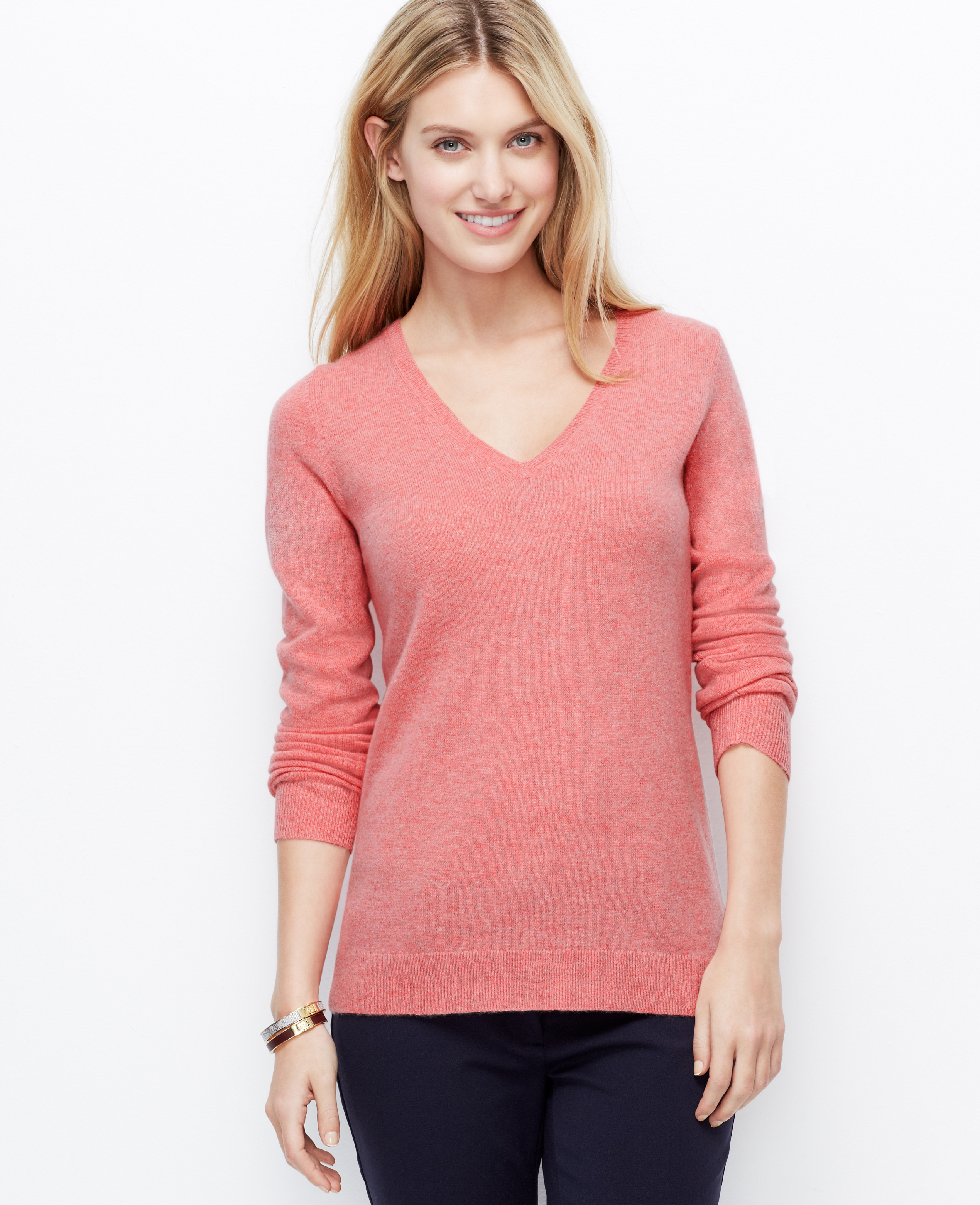 Pink V Neck Sweater Women S Her Sweater