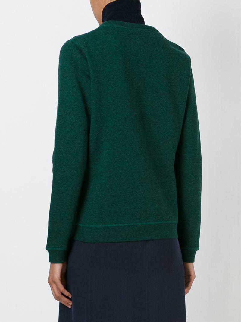 Kenzo letters sweatshirt in green lyst for Letters for sweatshirts