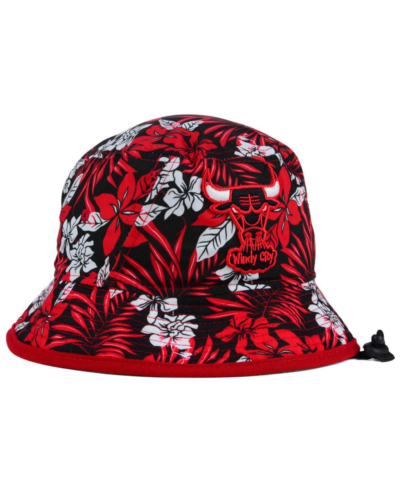 84d9d0378e1 ... spain lyst ktz chicago bulls wowie bucket hat in red for men de59d a0158