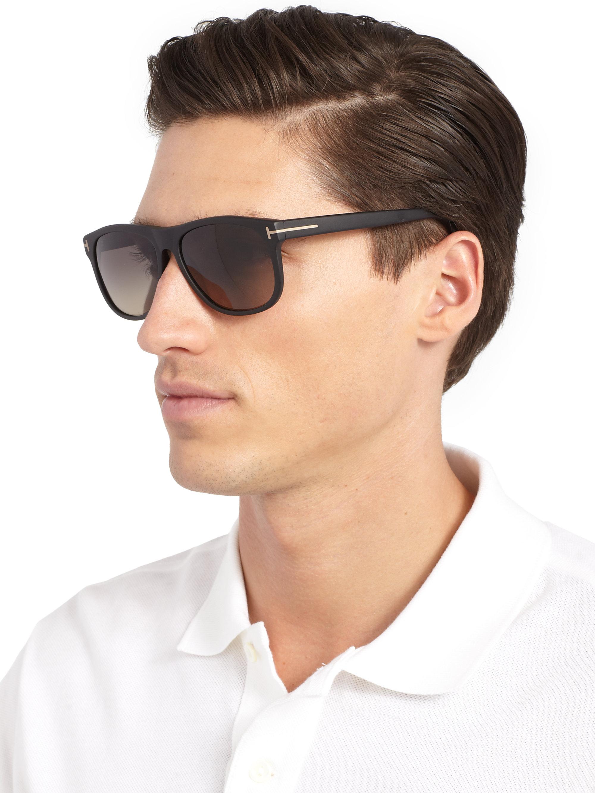 lyst tom ford olivier acetate sunglasses in black for men. Black Bedroom Furniture Sets. Home Design Ideas