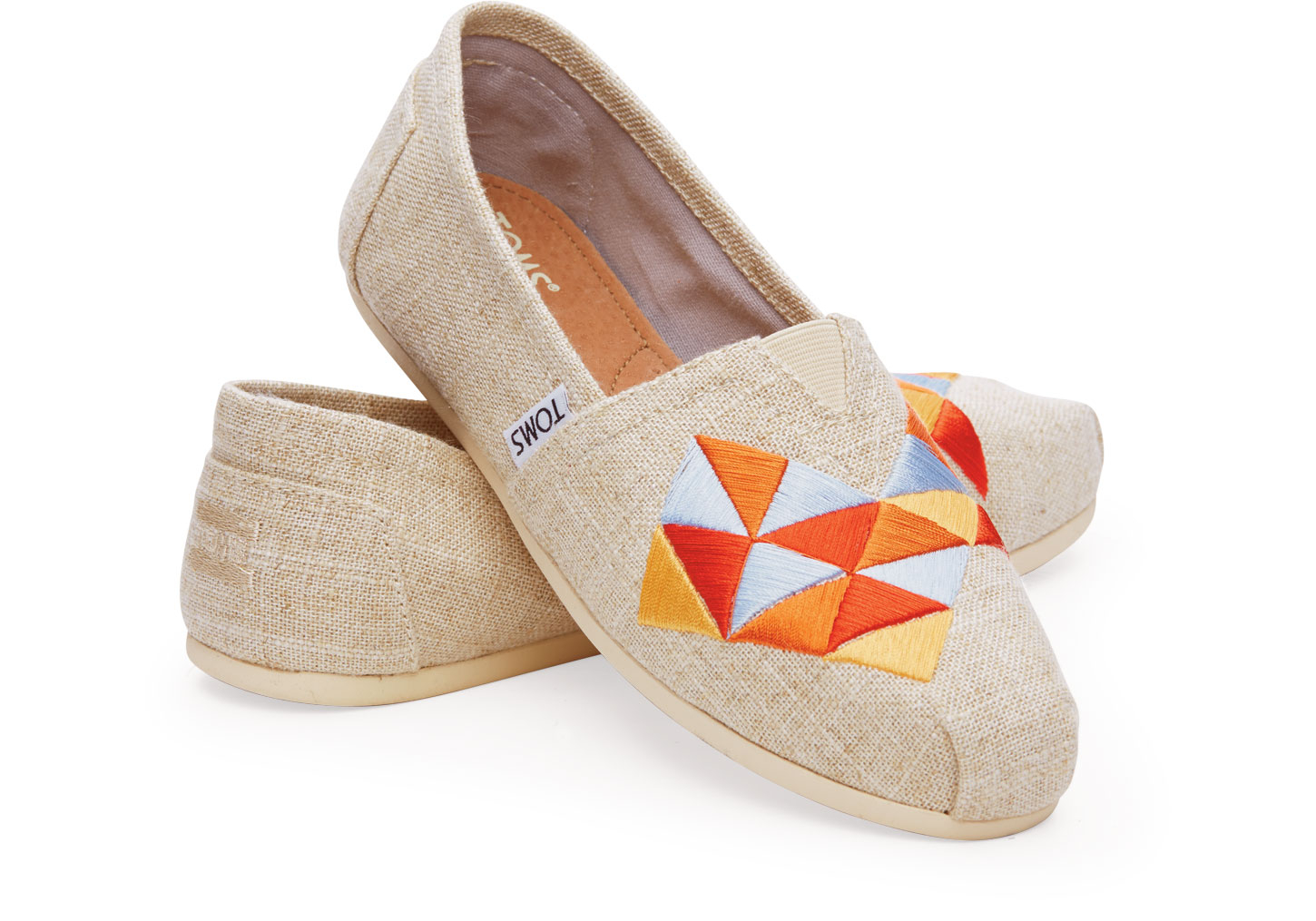 8620adb8b37 Lyst - TOMS Natural Burlap Embroidery Women s Classics in Natural