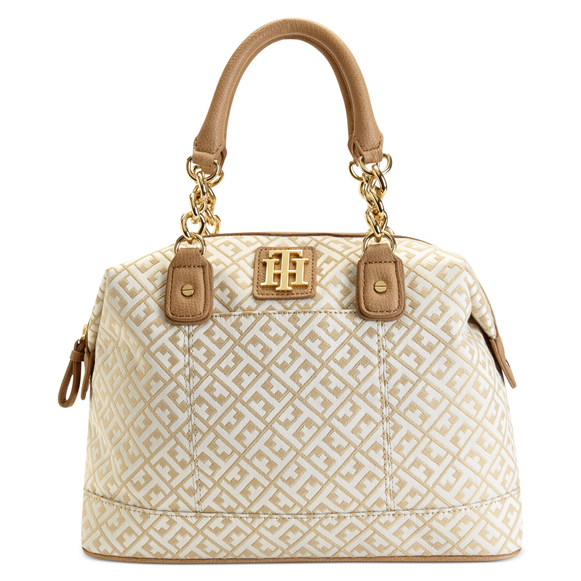 20442b364c4 Lyst - Tommy Hilfiger Bombay Jaquard Bowler Bag in Metallic