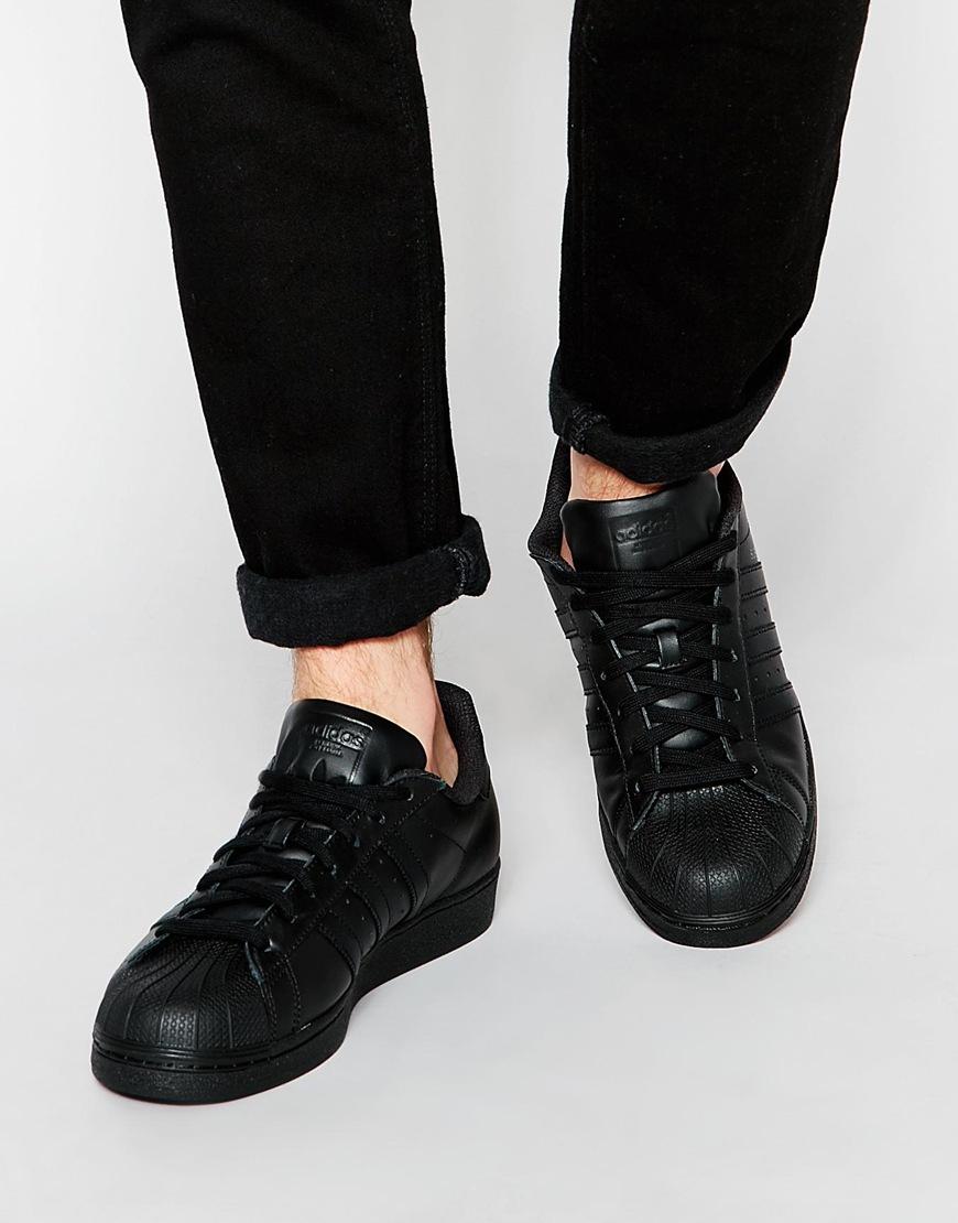 sizto Adidas originals Superstar Sneakers Af5666 - Black in Black for