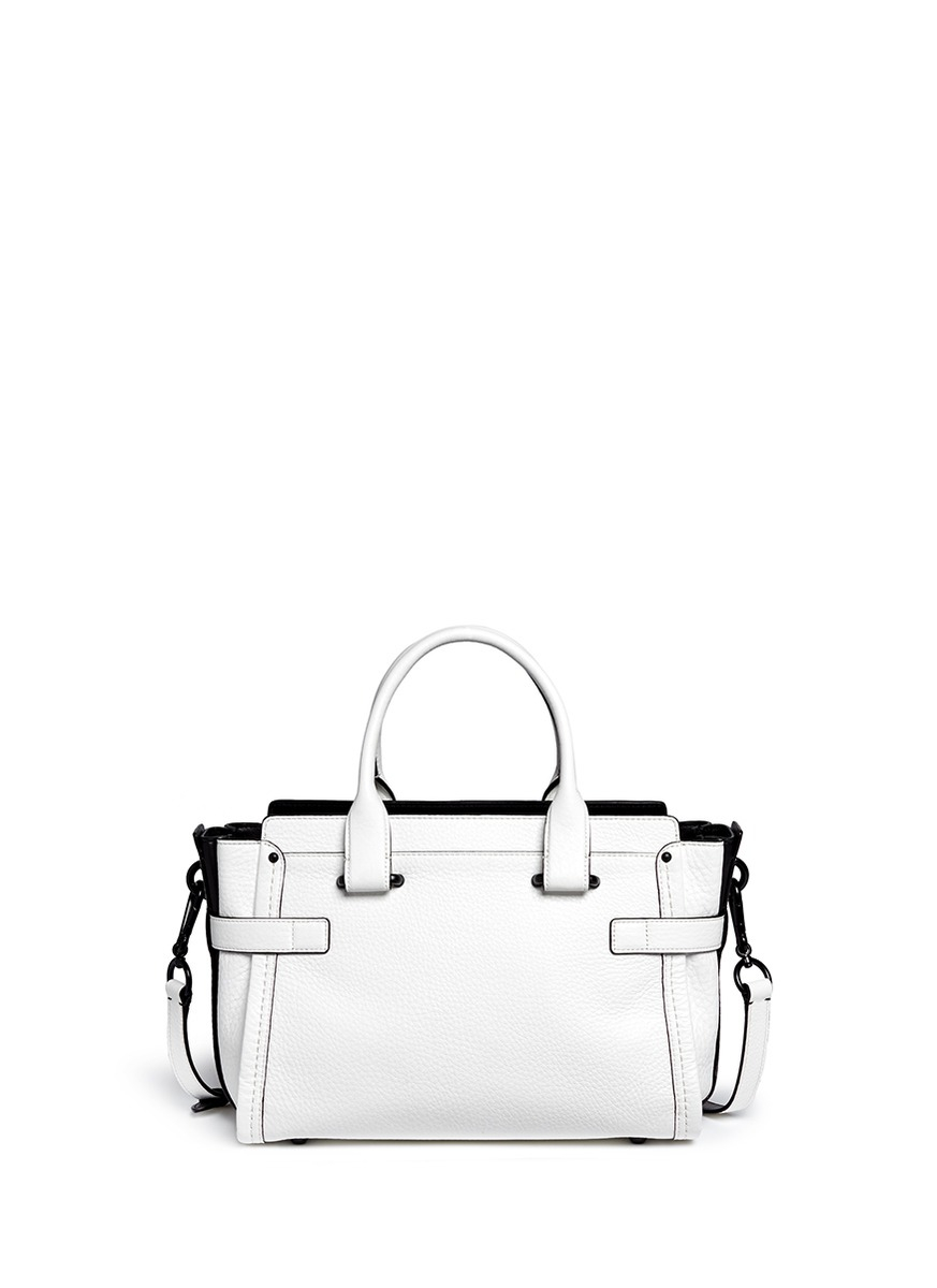 Lyst - COACH X Blitz  swagger  Small Leather Tote in White 7c05754500954