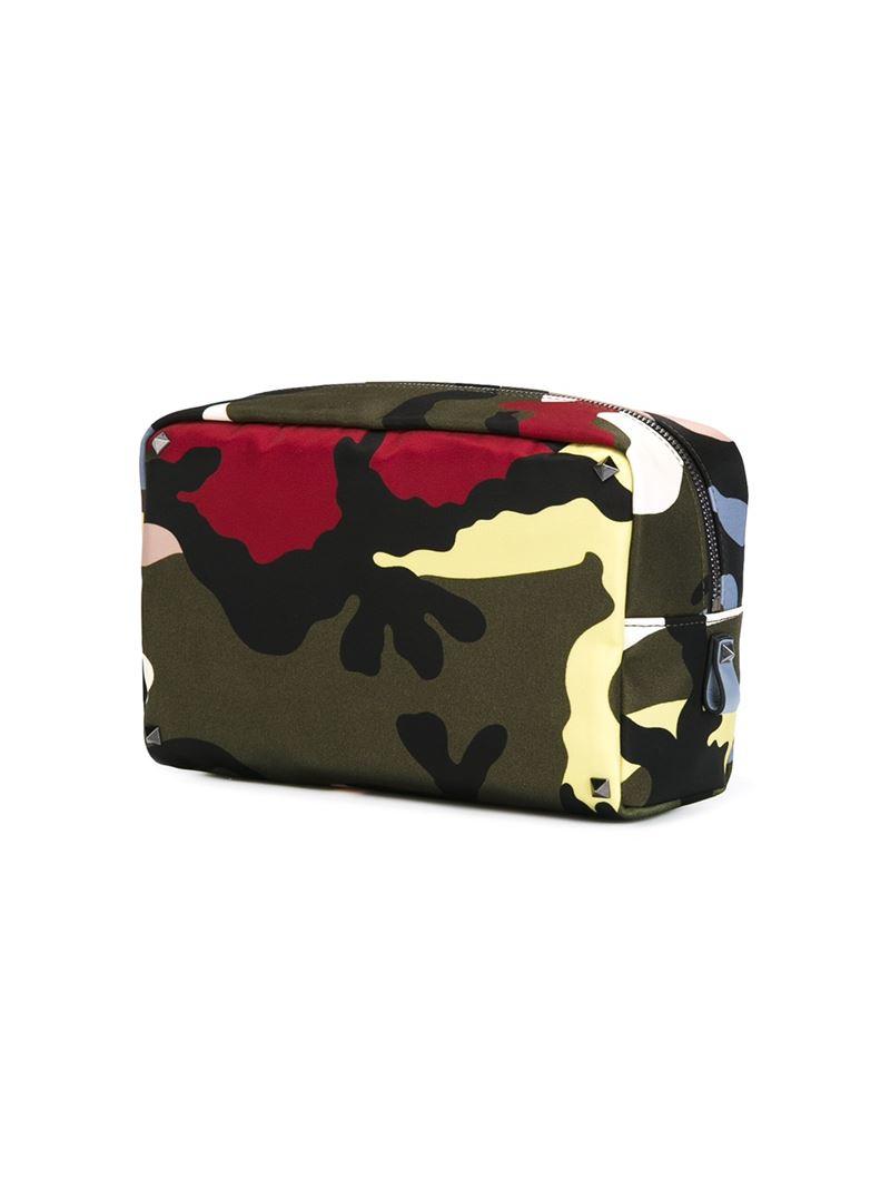 Valentino Garavani camouflage zip clutch - Black Valentino Free Shipping Best Sale da3bxay7