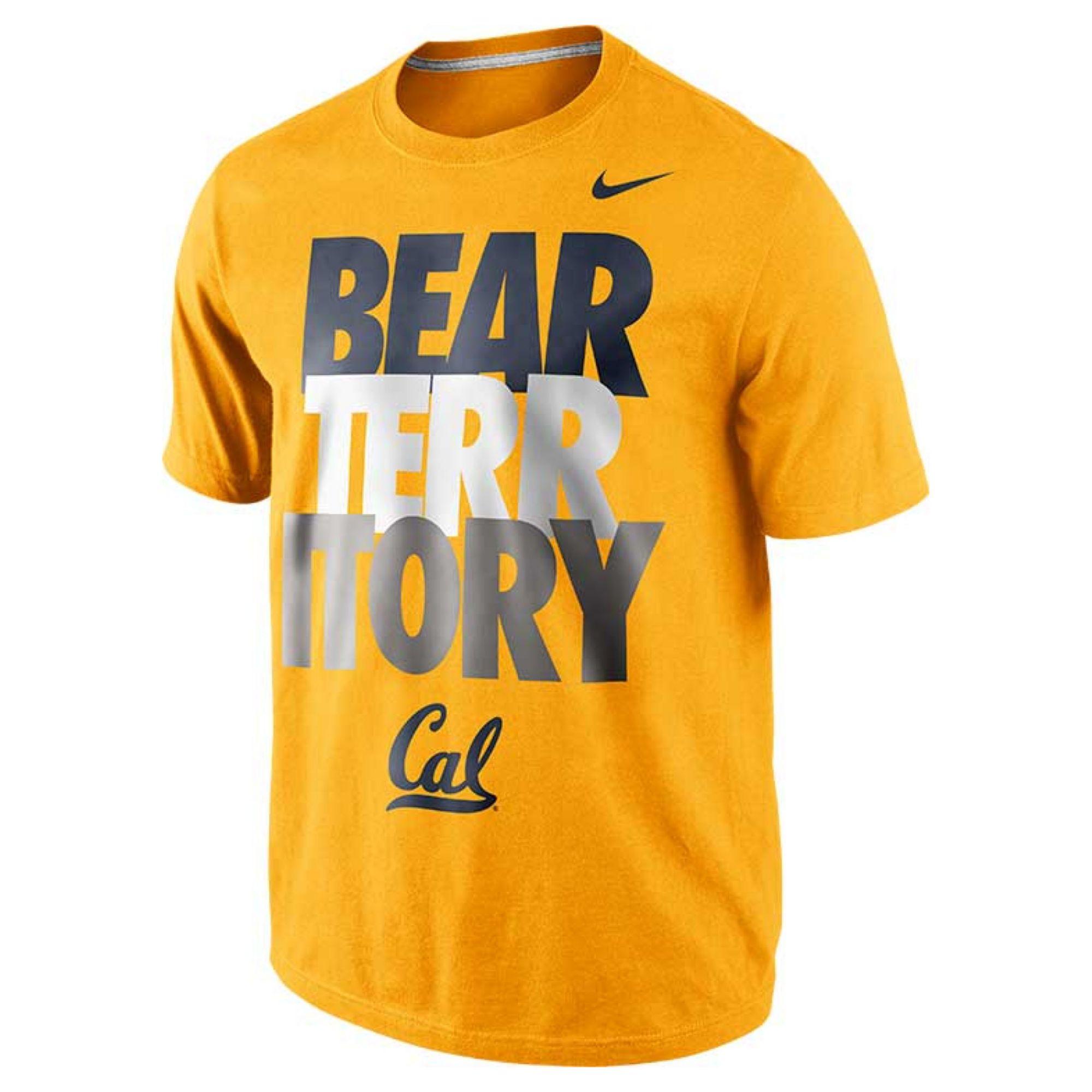 554ccf41e0b5c Nike Mens Shortsleeve California Golden Bears Tshirt in Yellow for ...