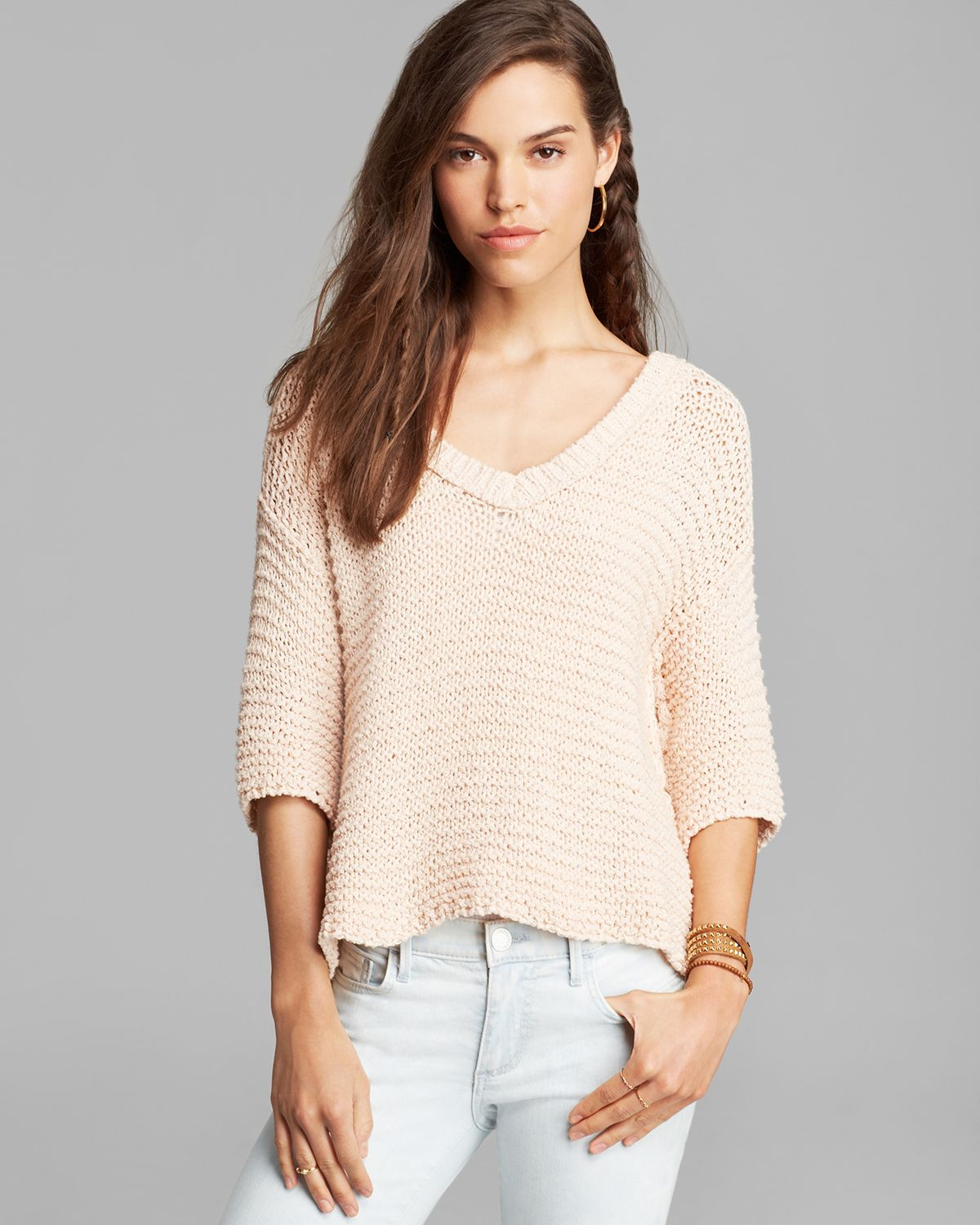 Lyst Free People Sweater Park Slope In Pink