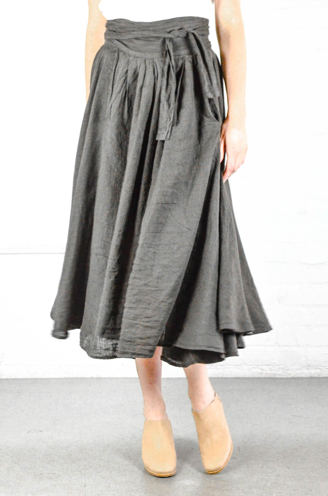 Enjoyed Wrap skirt black black