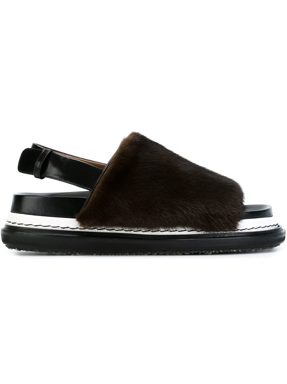 Marni Fur trimmed fussbett sandals Buy Cheap Many Kinds Of Buy Cheap Best For Sale 2018 To Buy Limited Edition Sale Online Bl4oQgAB