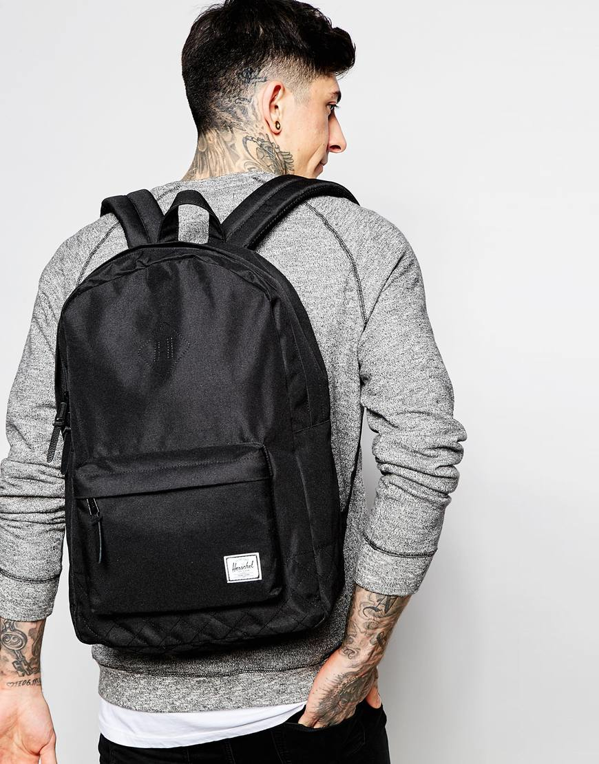 Lyst Herschel Supply Co Heritage Quilted Backpack 20l