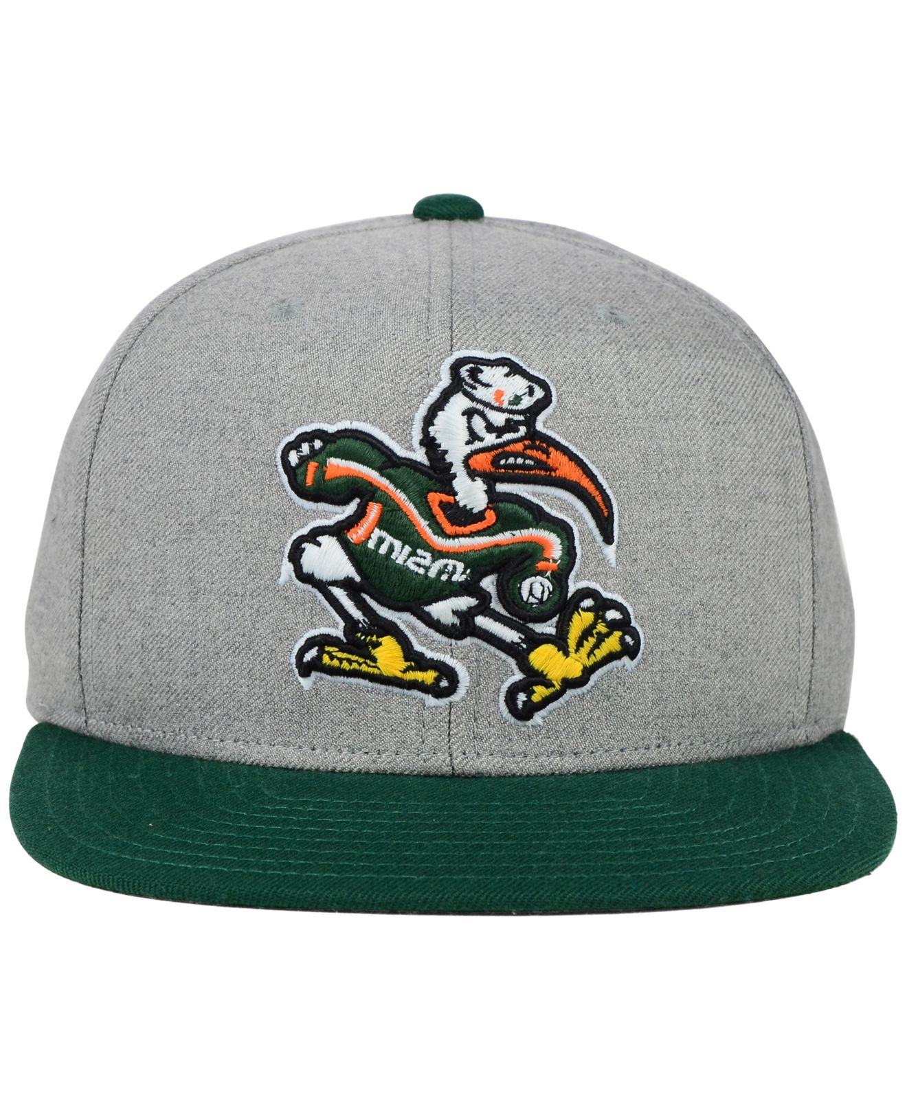 83be3f45f61 Lyst - Sports Licensed Division Adidas Miami Hurricanes Stacked Box Snapback  Cap in Gray for Men