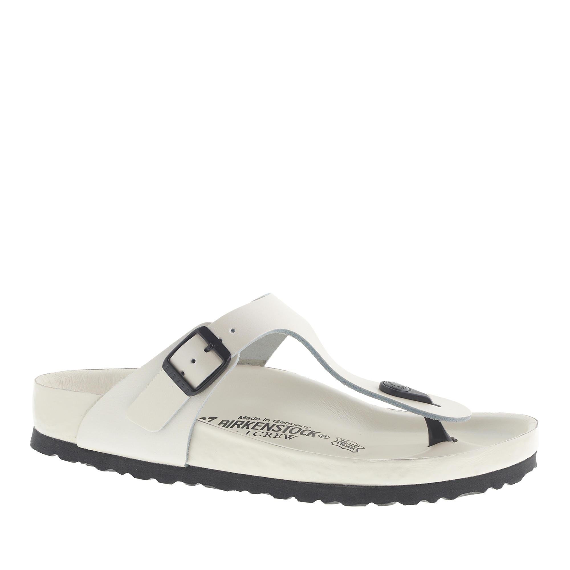 Exquisite Sandals In Lyst Women's Birkenstock Gizeh White J crew tQhsdrC