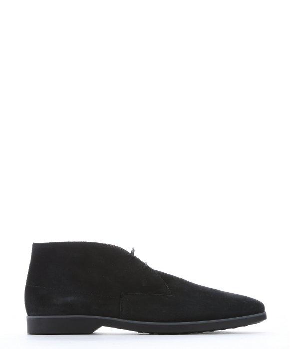 Tod's Dark Blue Nubuck Chukka Ankle Boots in Black for Men | Lyst