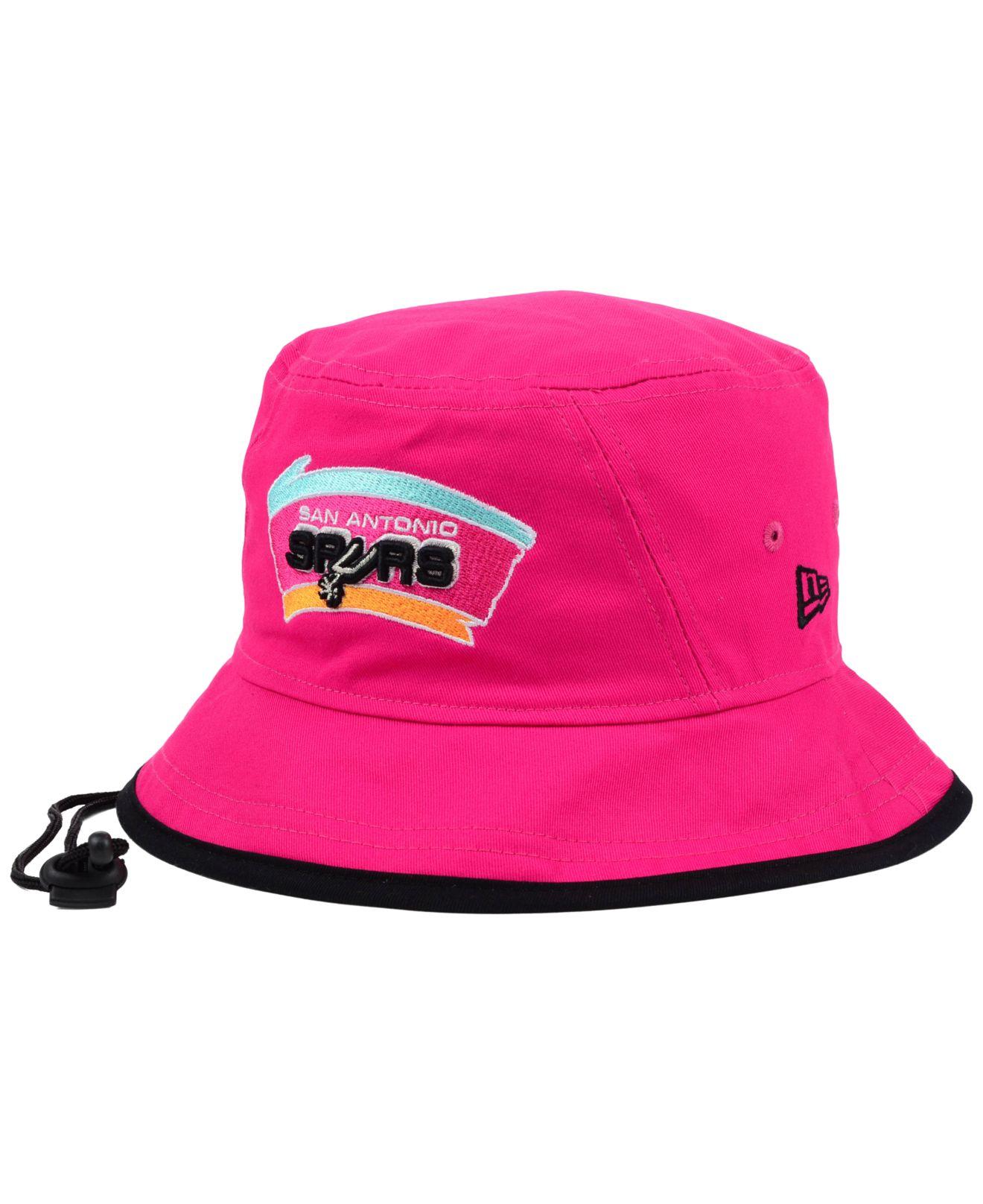 86a8ac0f6da Lyst - KTZ San Antonio Spurs Hardwood Classics Tipped Bucket Hat in ...