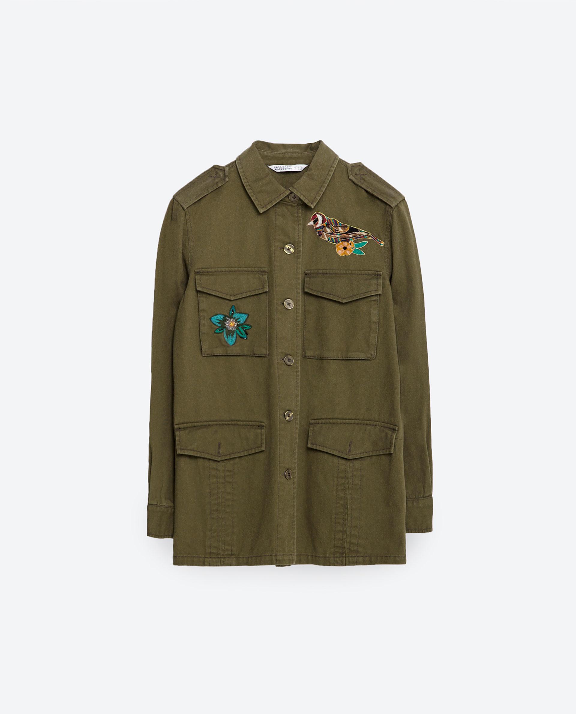 New embroidered jacket zara makaroka