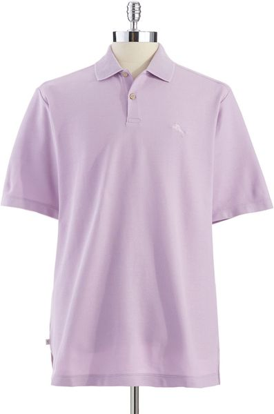 Tommy bahama marlin rossi polo shirt in purple for men for Tommy bahama christmas shirt 2014