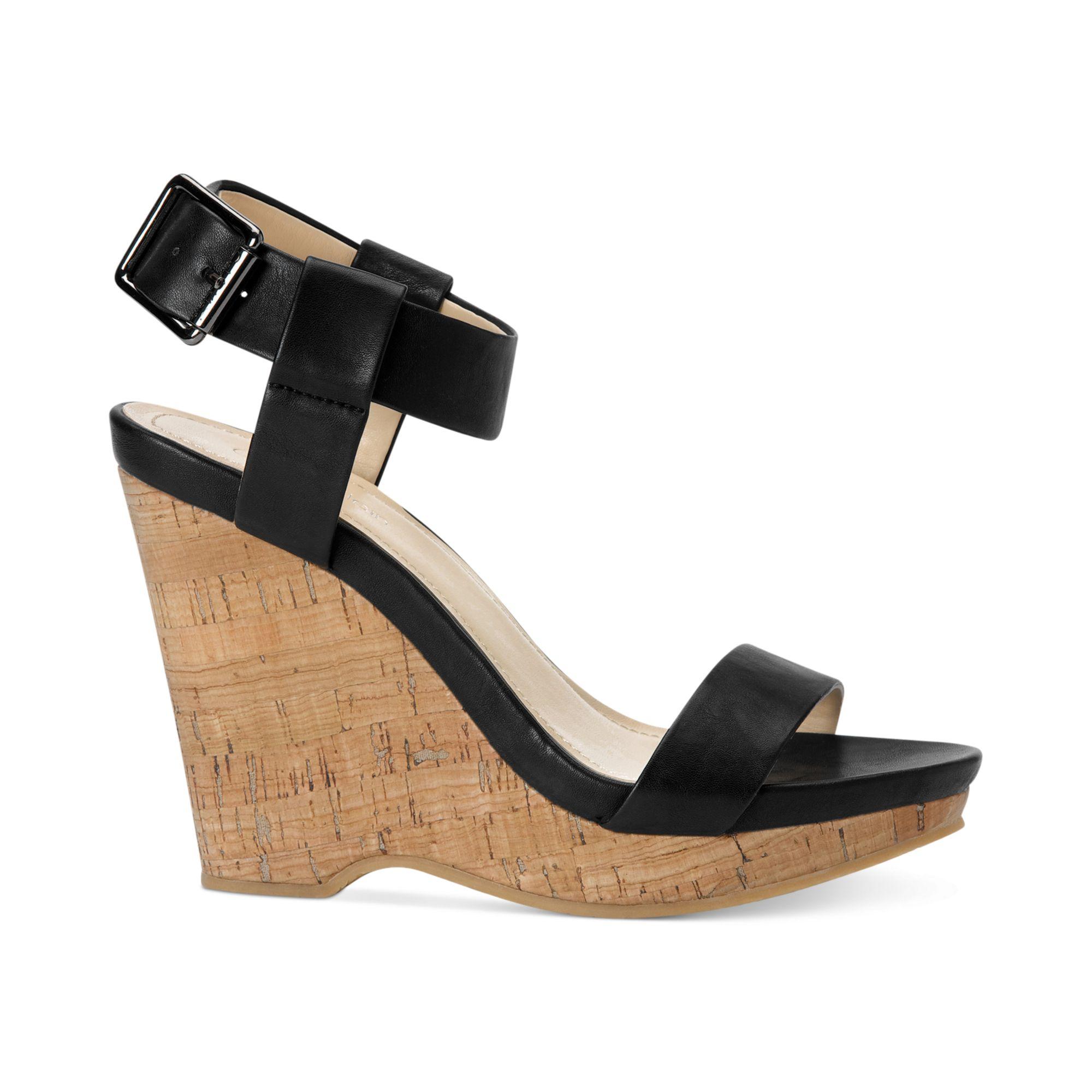 dac65978be0 Lyst - Calvin Klein Womens Nikole Platform Wedge Sandals in Black