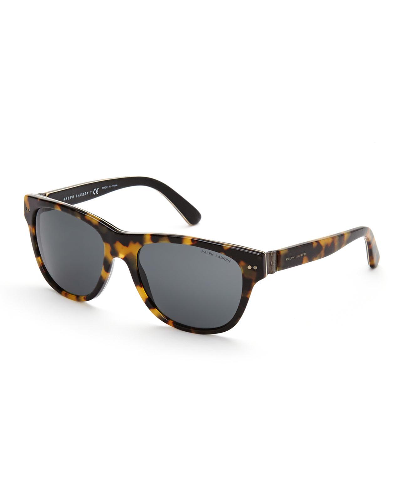 Ralph Lauren Ricky Sunglasses  ralph lauren ph 4080 tortoises look wayfarer sunglasses in