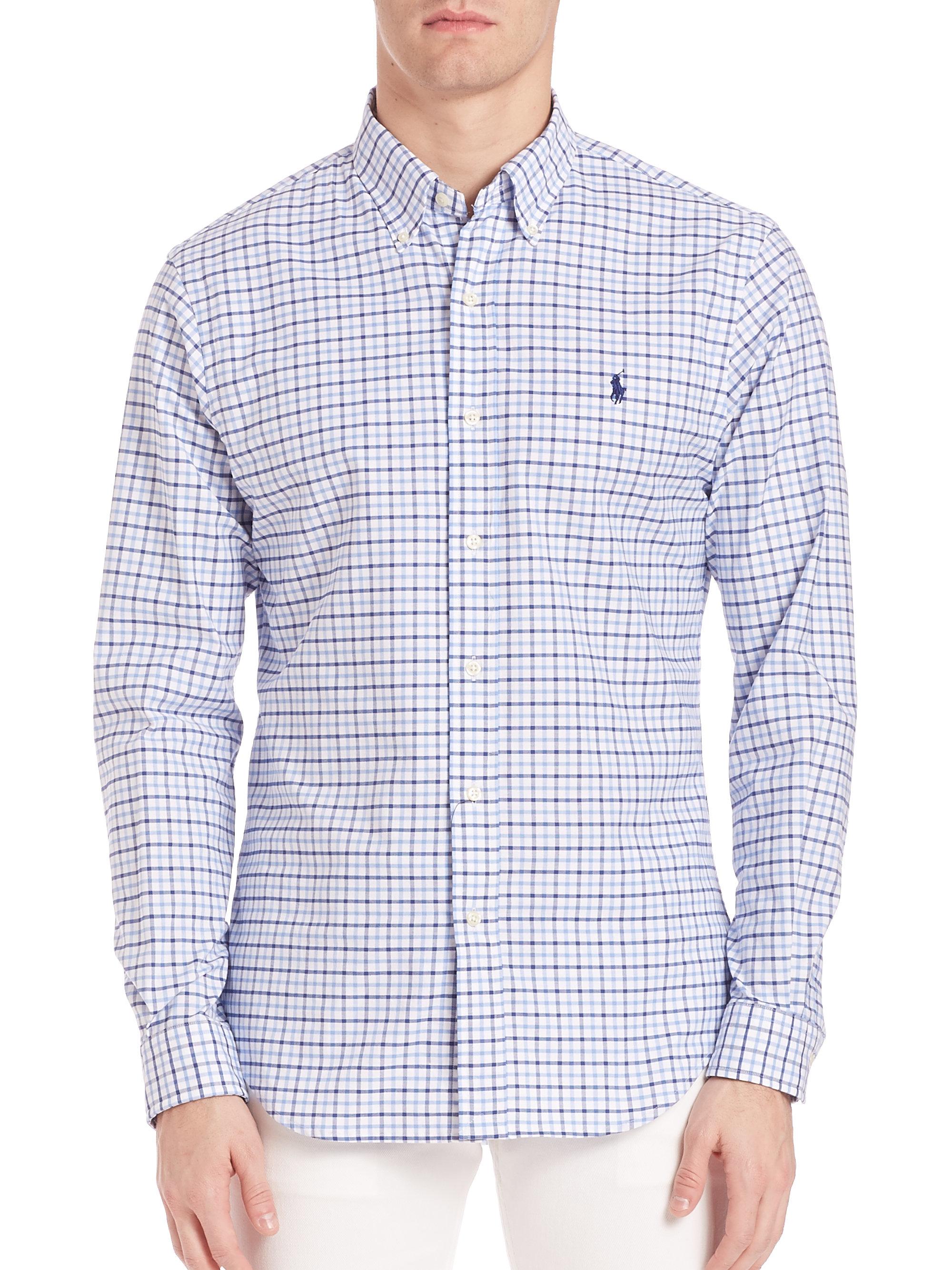 2f3ddde2a 50% off lyst polo ralph lauren oxford shirt slim fit in blue for men 3768d  5a8bd  spain ralph lauren womens blue oxford shirt 5683e a720d