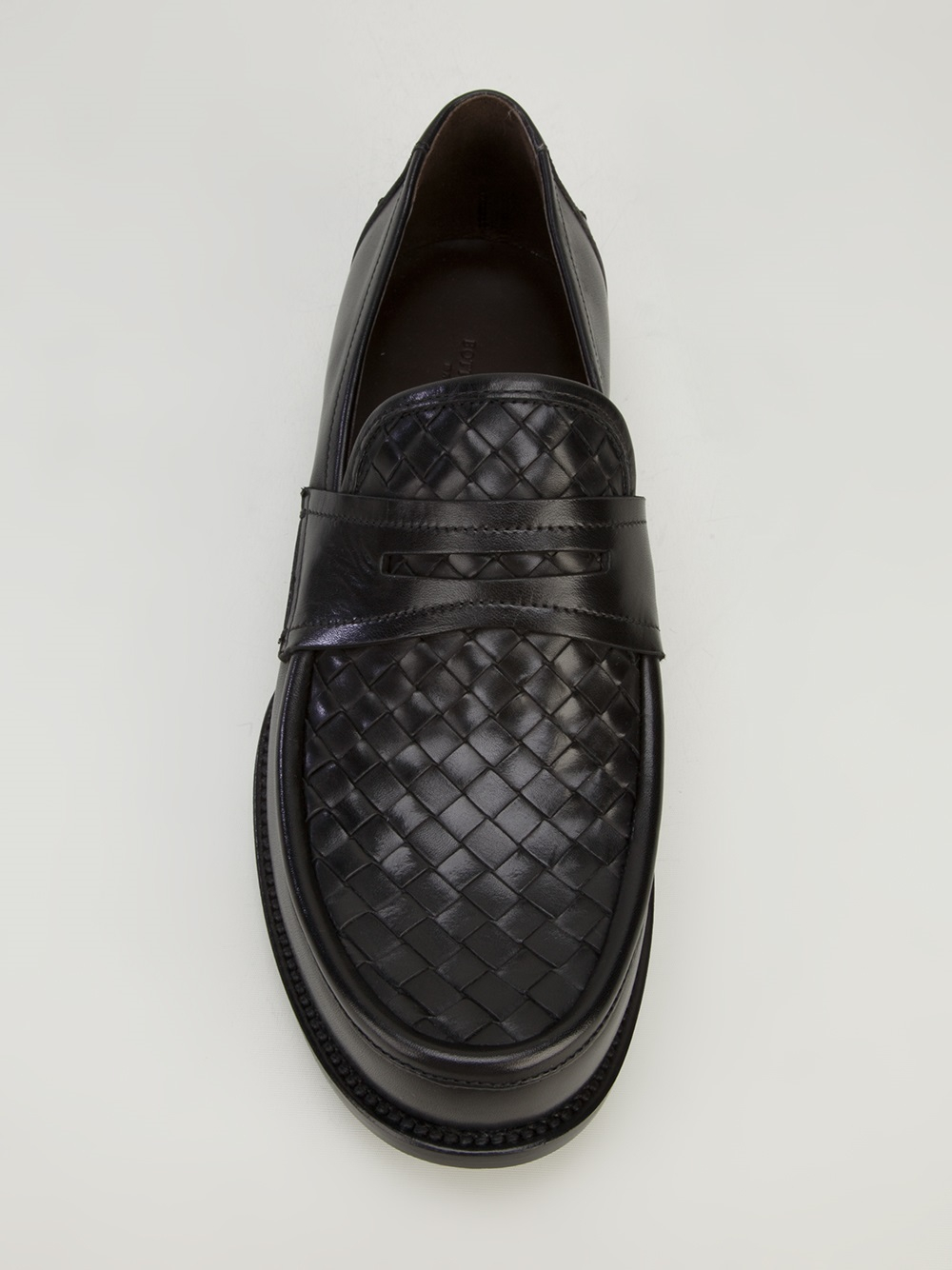 3becec466c Bottega Veneta Intrecciato Penny Loafer in Black for Men - Lyst