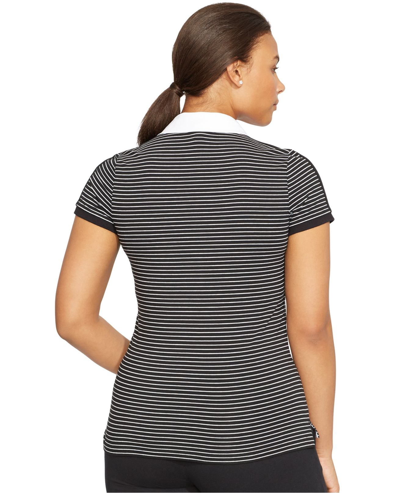 Lyst Lauren By Ralph Lauren Plus Size Striped Polo Shirt