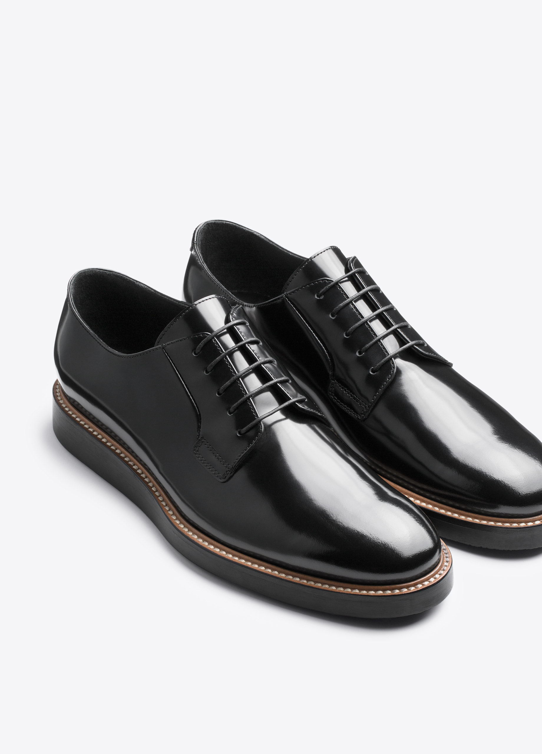 vince oxford shoe in black for lyst