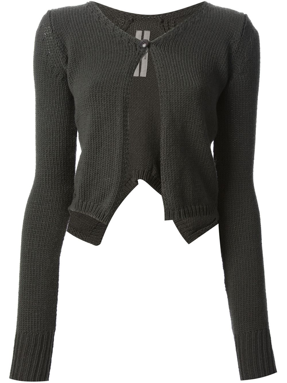 Lyst - Rick Owens Short Butterfly Cardigan in Green 603b1ab5d