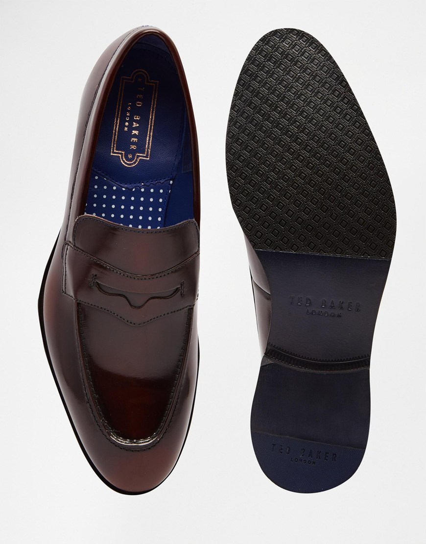 460d0567c78 Lyst - Ted Baker Zephire Loafers In Dark Red in Brown for Men