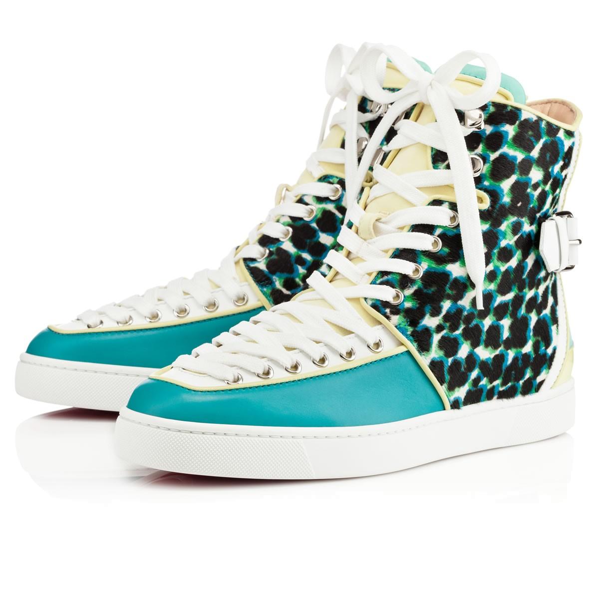 chris louis vuitton shoes - Christian louboutin Alfie Mens Flat in Blue (leopard) | Lyst