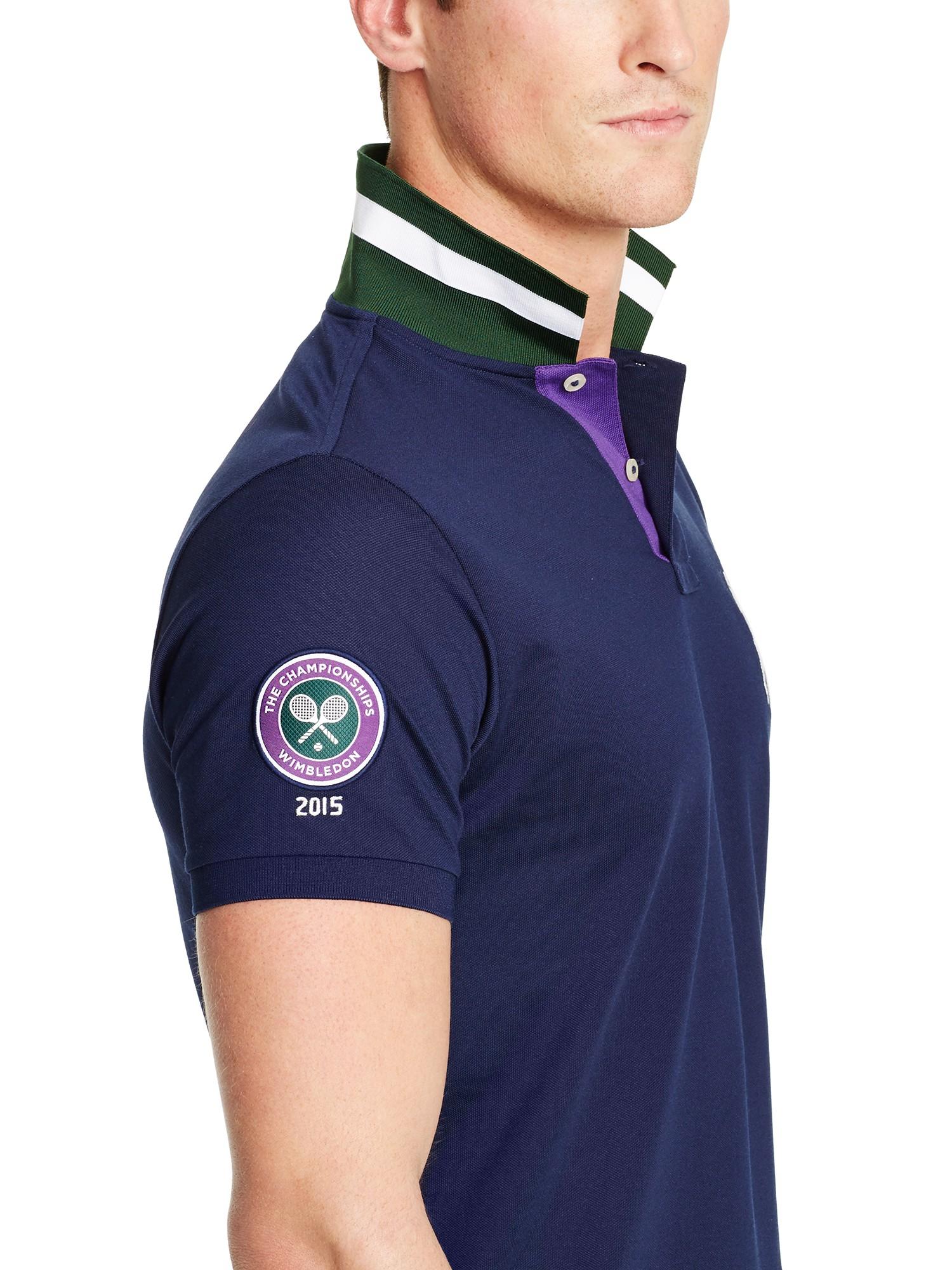 6f79ea42 ... sale polo ralph lauren wimbledon ball boy polo shirt in blue for men  lyst 1ad64 708c4