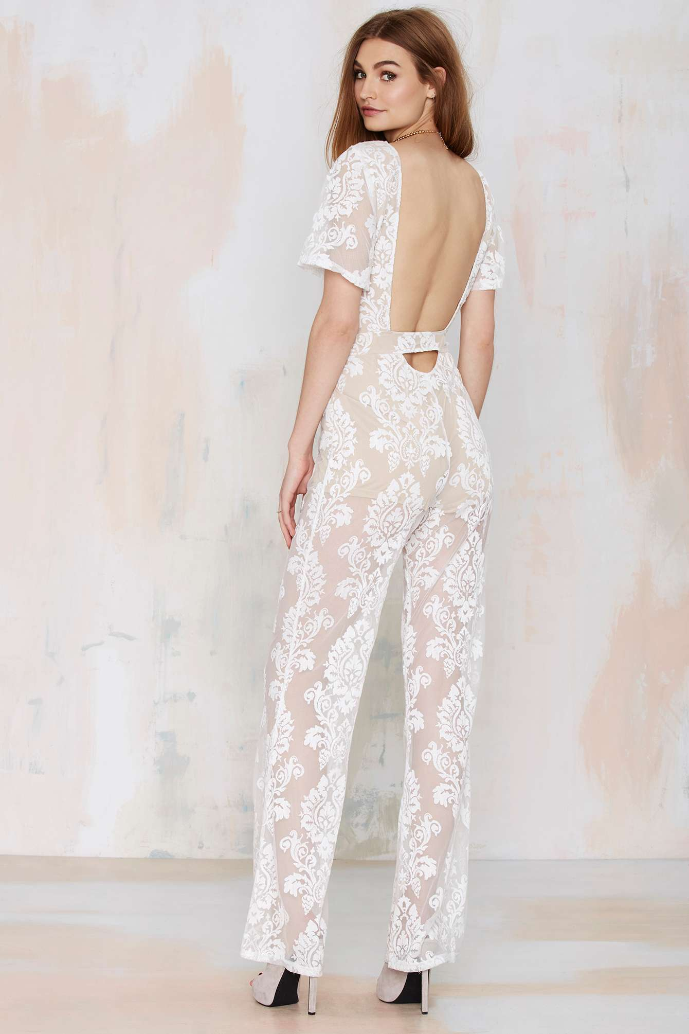 Lace Panel White Off the Shoulder Jumpsuit with cheap wholesale price, buy Lace Panel White Off the Shoulder Jumpsuit at private-dev.tk!