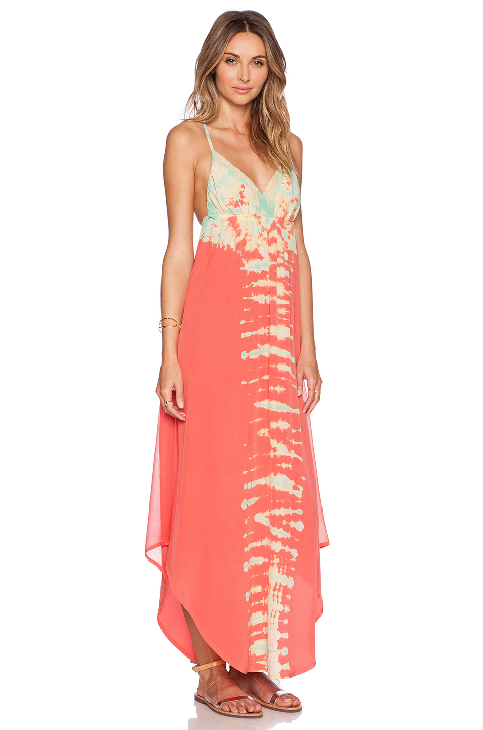 Gypsy 05 Crossback Maxi Dress in Pink | Lyst