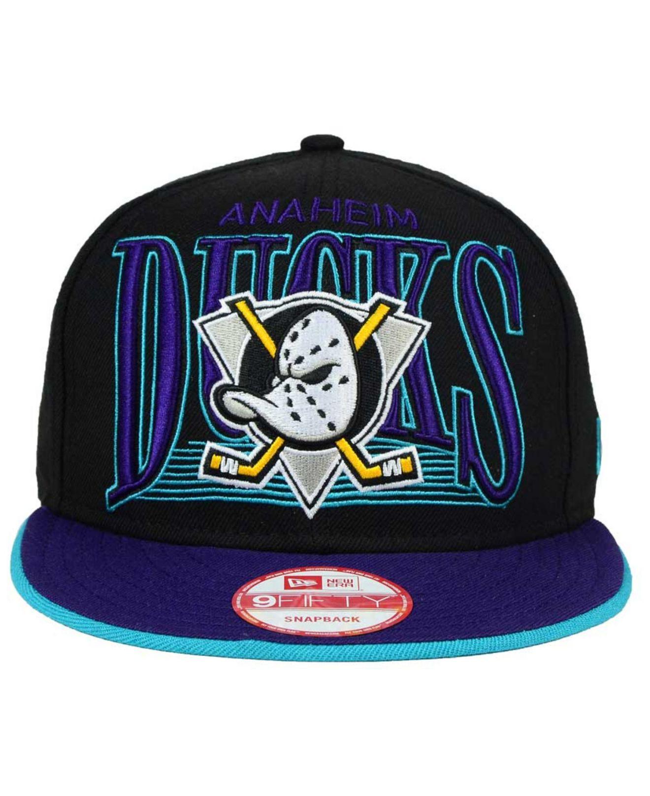huge discount 3fed7 94da0 Lyst - KTZ Anaheim Ducks Ice Block 9fifty Snapback Cap in Blue for Men