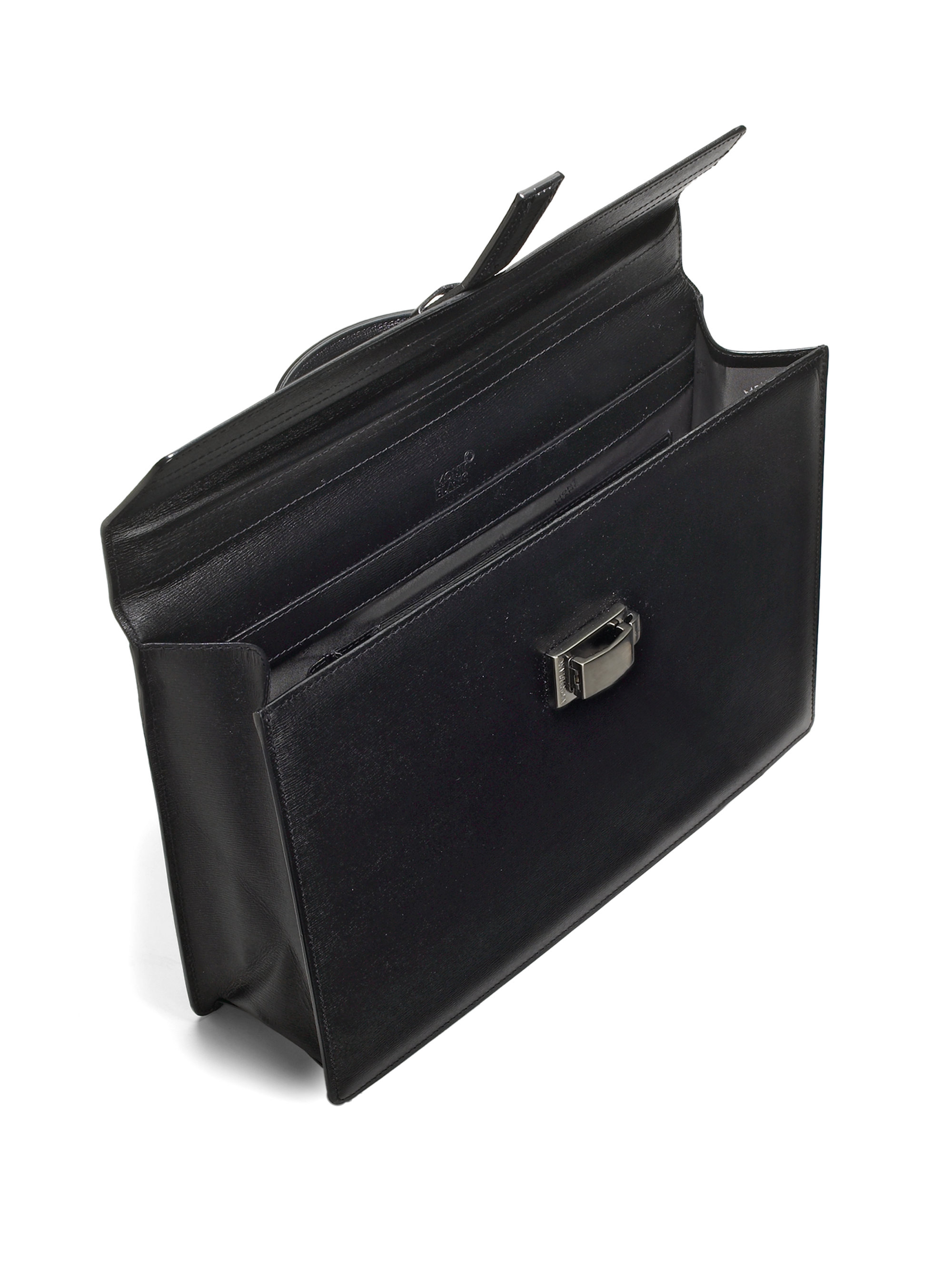 Montblanc Leather Business Bag In Black For Men Lyst