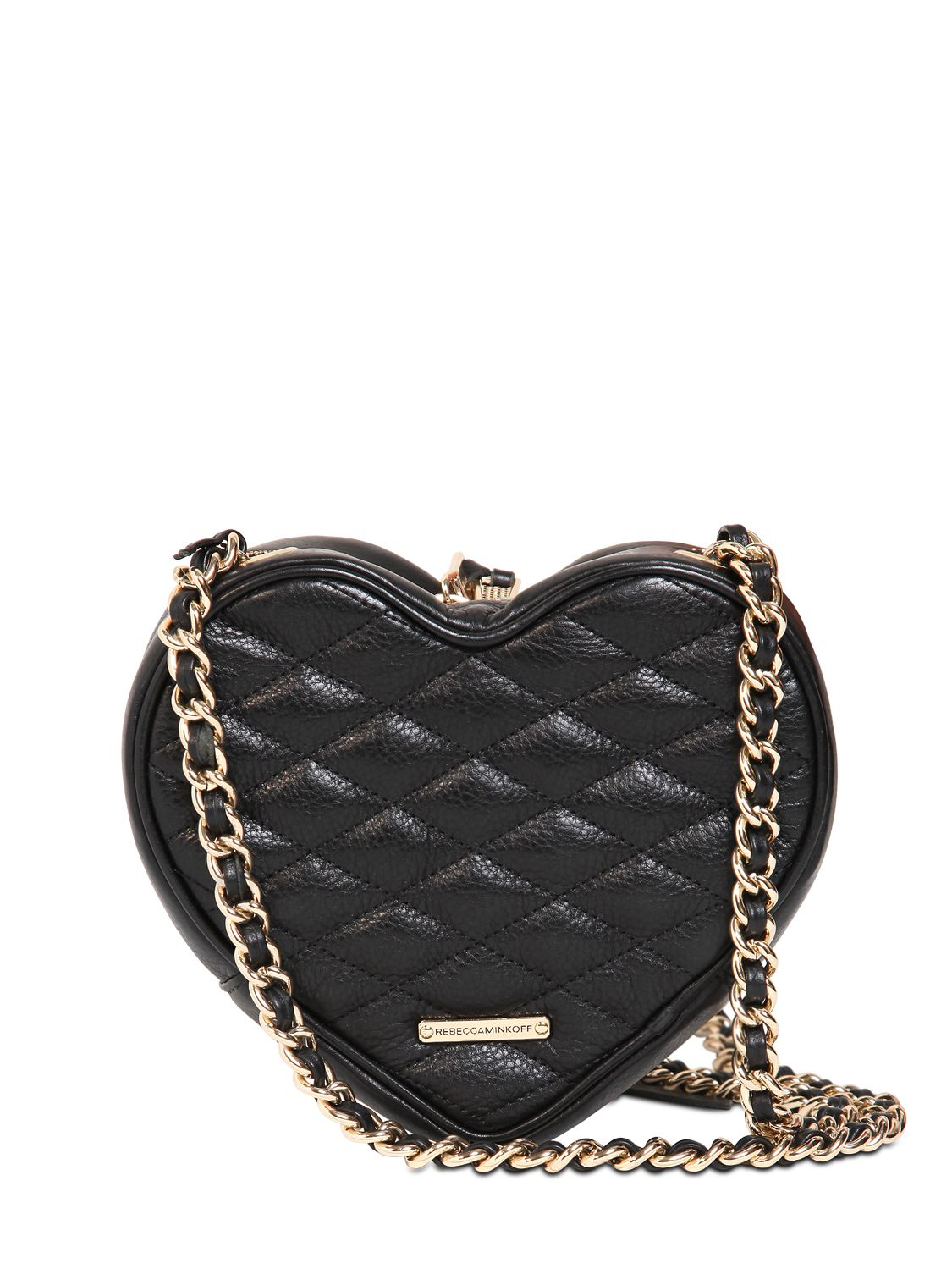 Rebecca Minkoff Heart Quilted Leather Shoulder Bag In