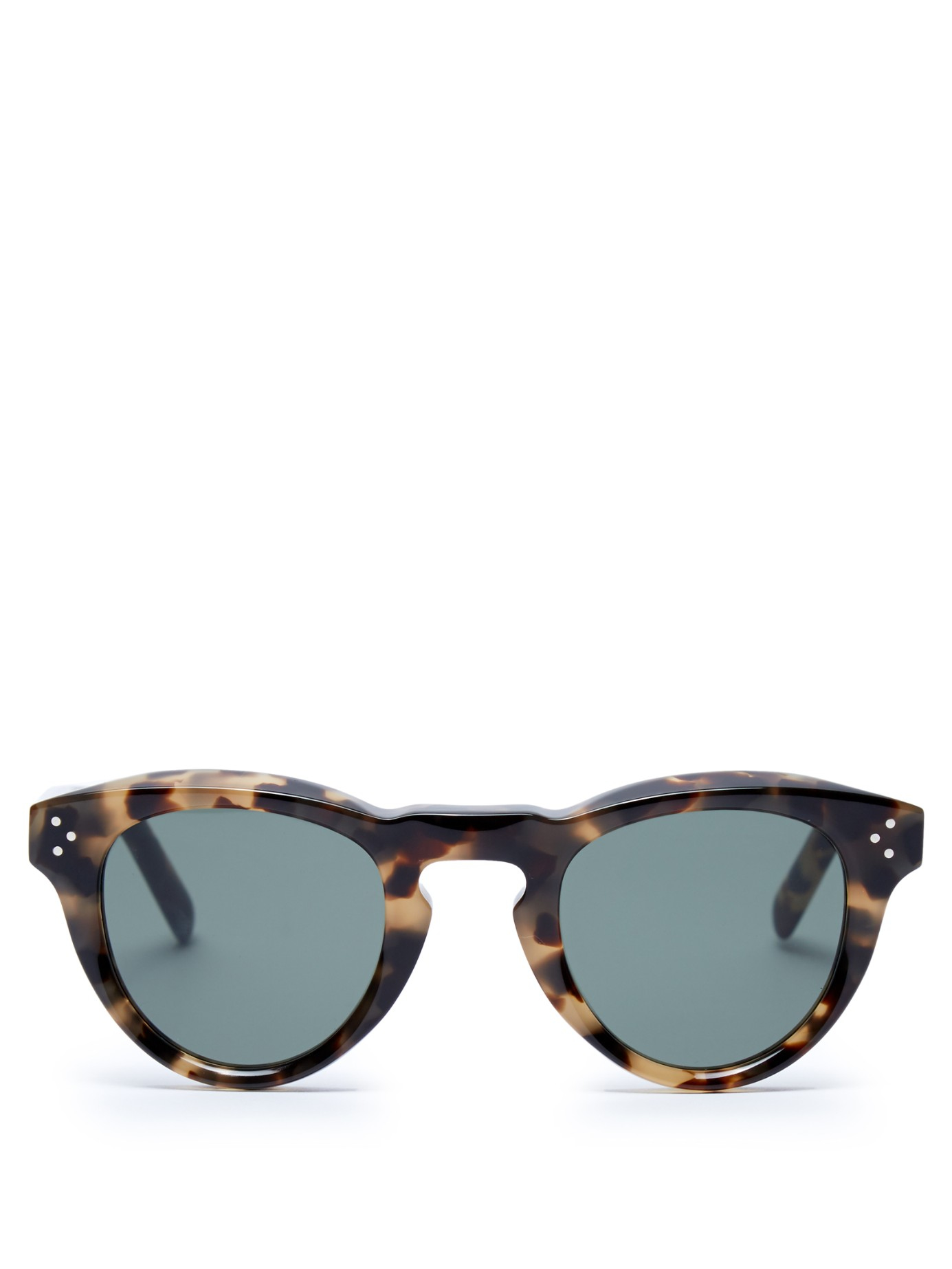 Celine Gold Frame Sunglasses : Celine Round-frame Acetate Sunglasses in Brown Lyst