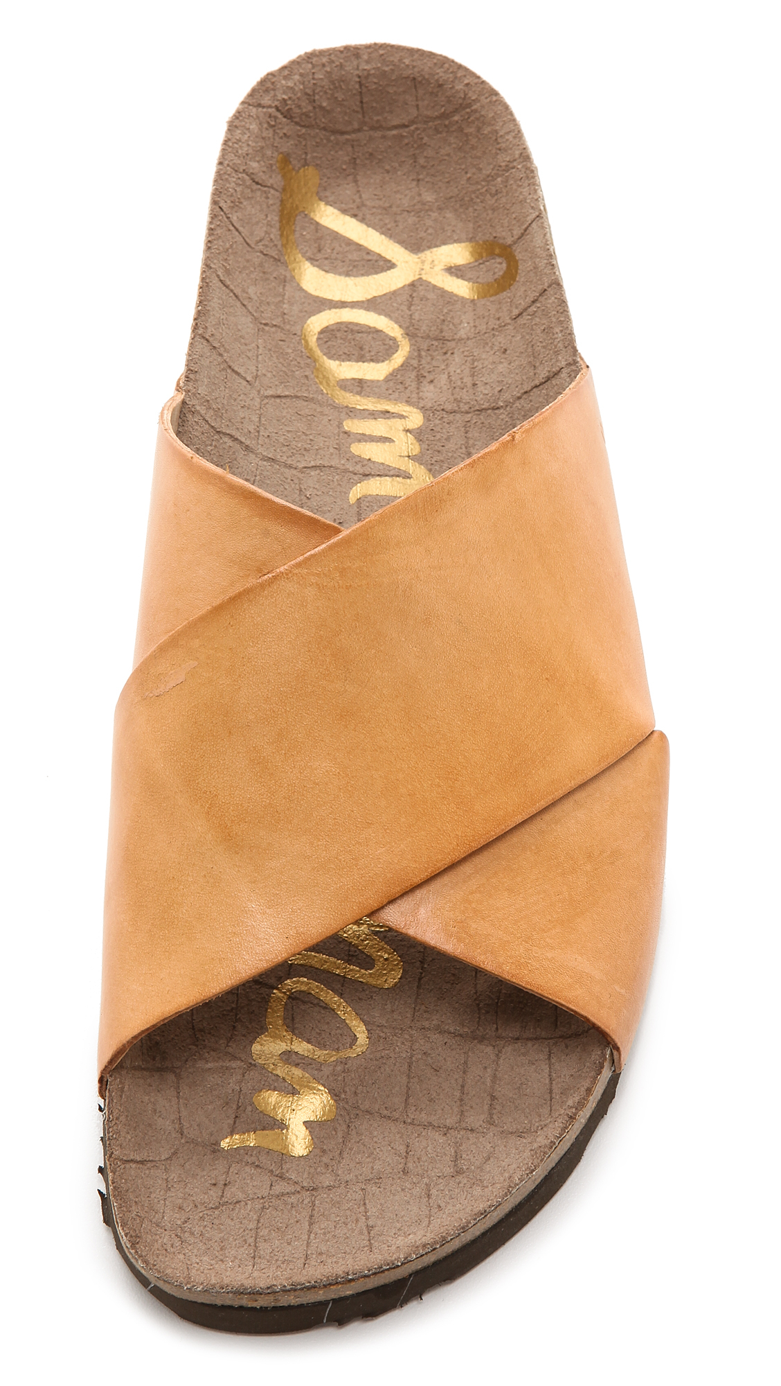 Sam Edelman Adora Cross Strap Sandals In Orange Lyst