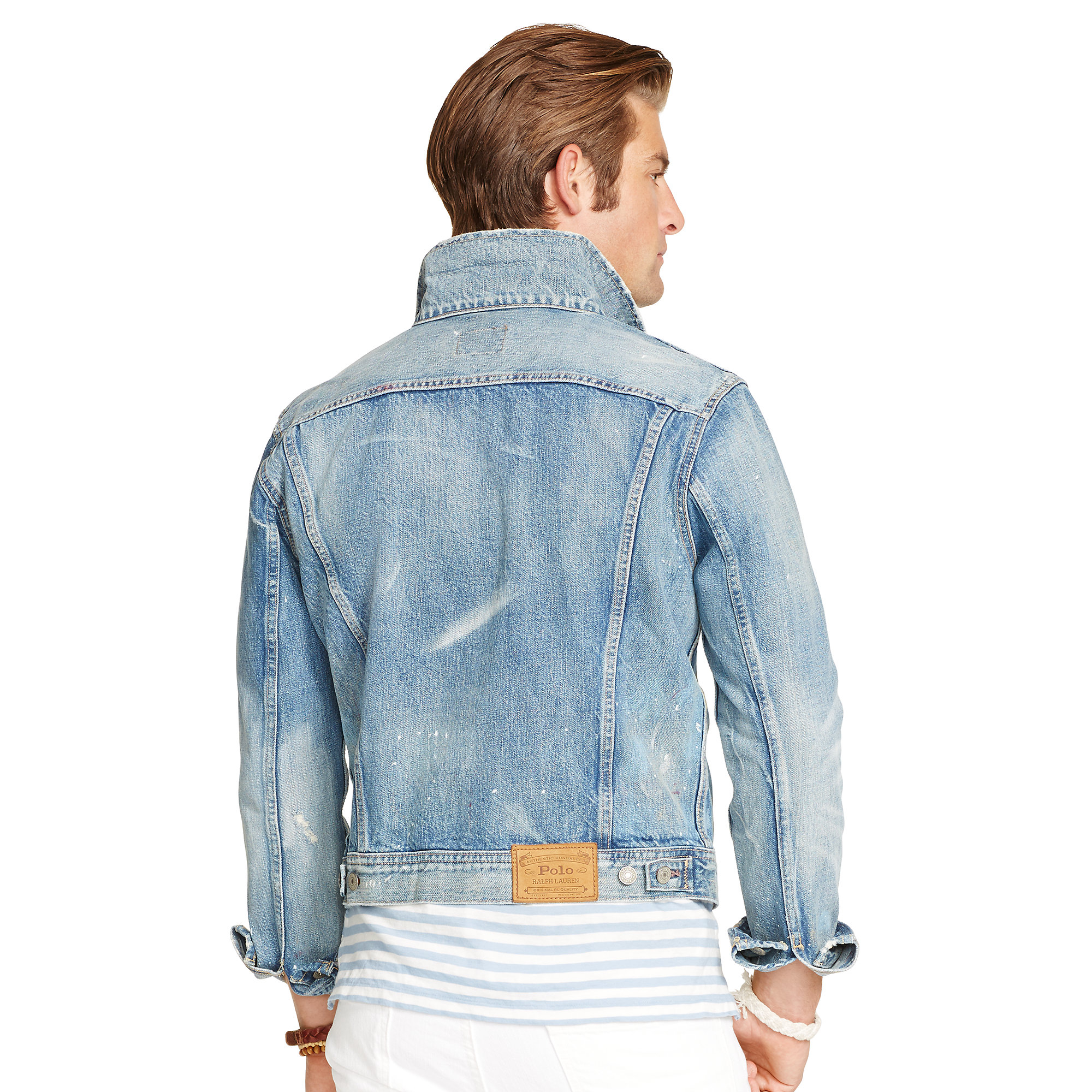 Lyst - Polo Ralph Lauren Distressed Denim Jacket in Blue for Men