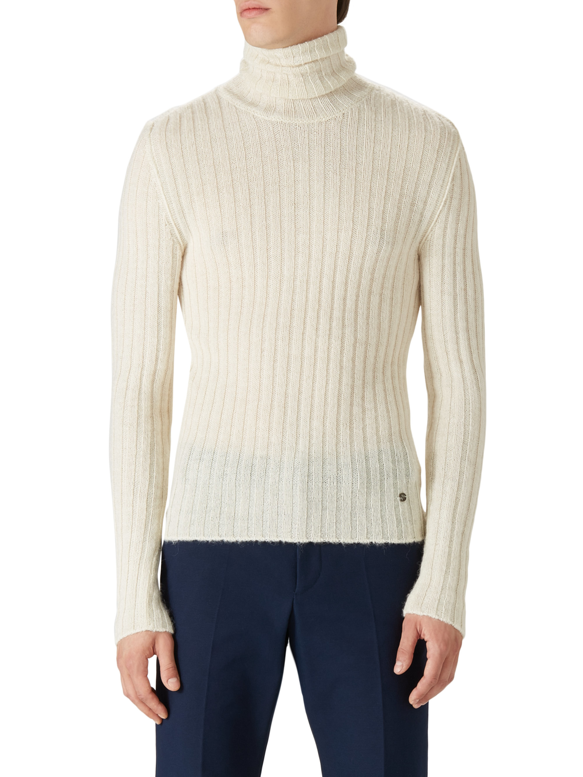 Gucci Alpaca & Wool Turtleneck Sweater in Natural for Men | Lyst