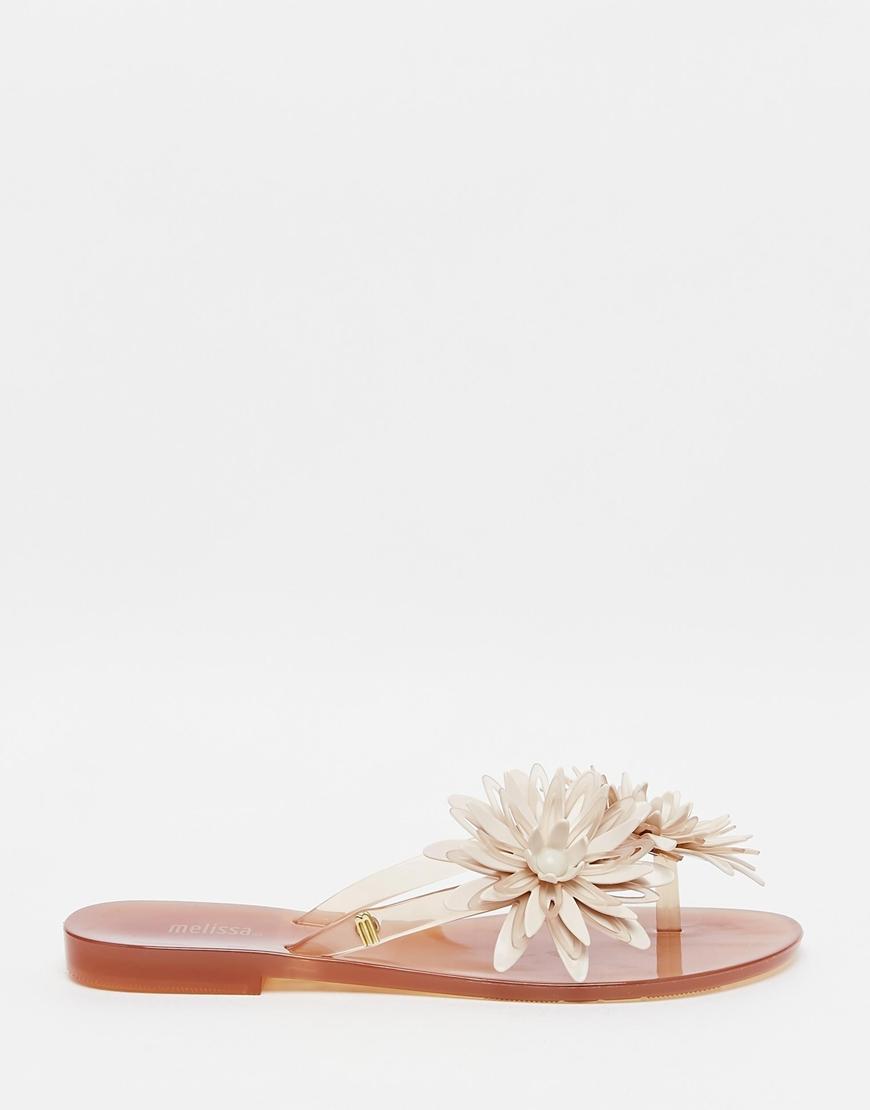 053b30ce94d7bd Lyst - Melissa Harmonic Bloom Champagne Flip Flops in Metallic
