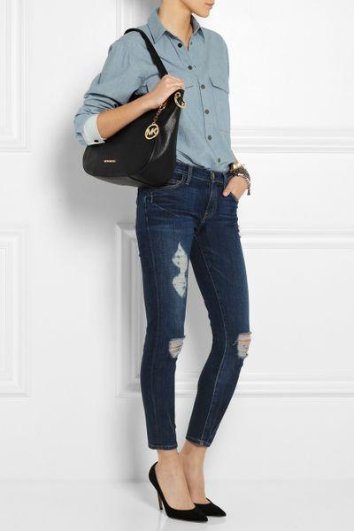 Michael Michael Kors Brooke Textured Leather Shoulder Bag 74