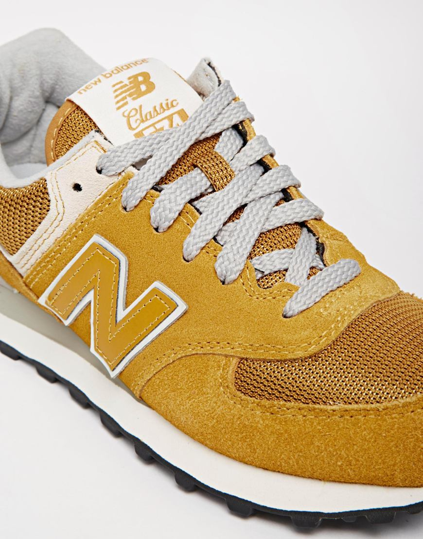 new balance 574 yellow