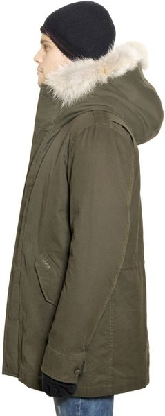 woolrich eskimo cotton parka in green for men military green lyst. Black Bedroom Furniture Sets. Home Design Ideas