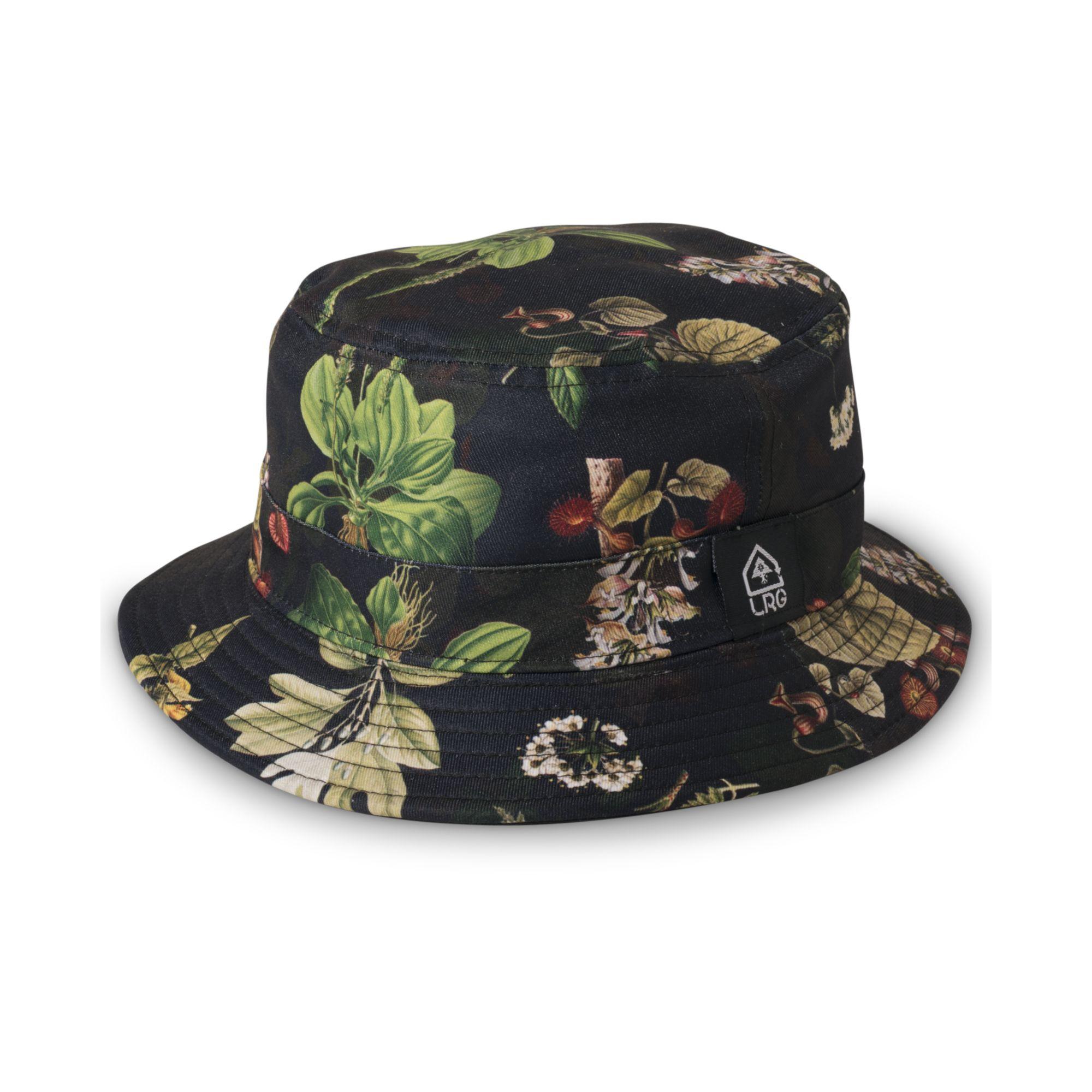 Lyst - LRG Floral Print Bucket Hat in Black for Men f89b99eccc3a