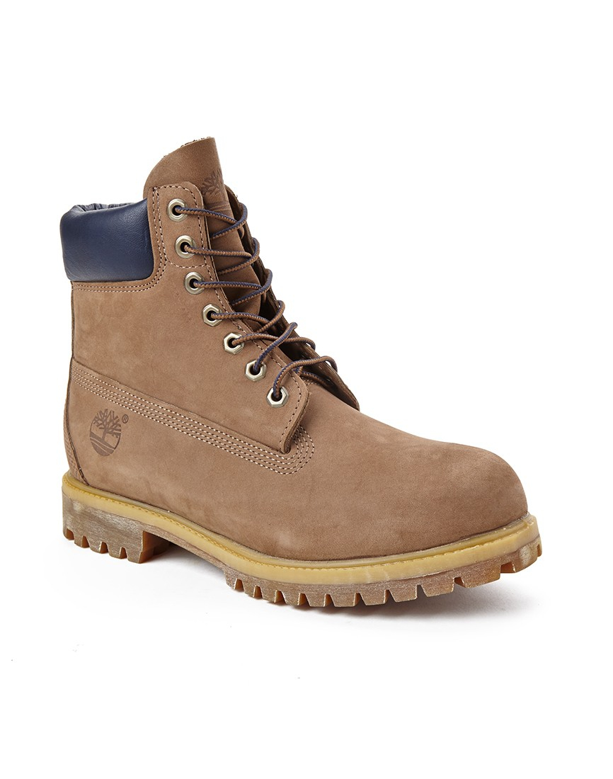 timberland premium 6 quot lace up boot in brown for lyst
