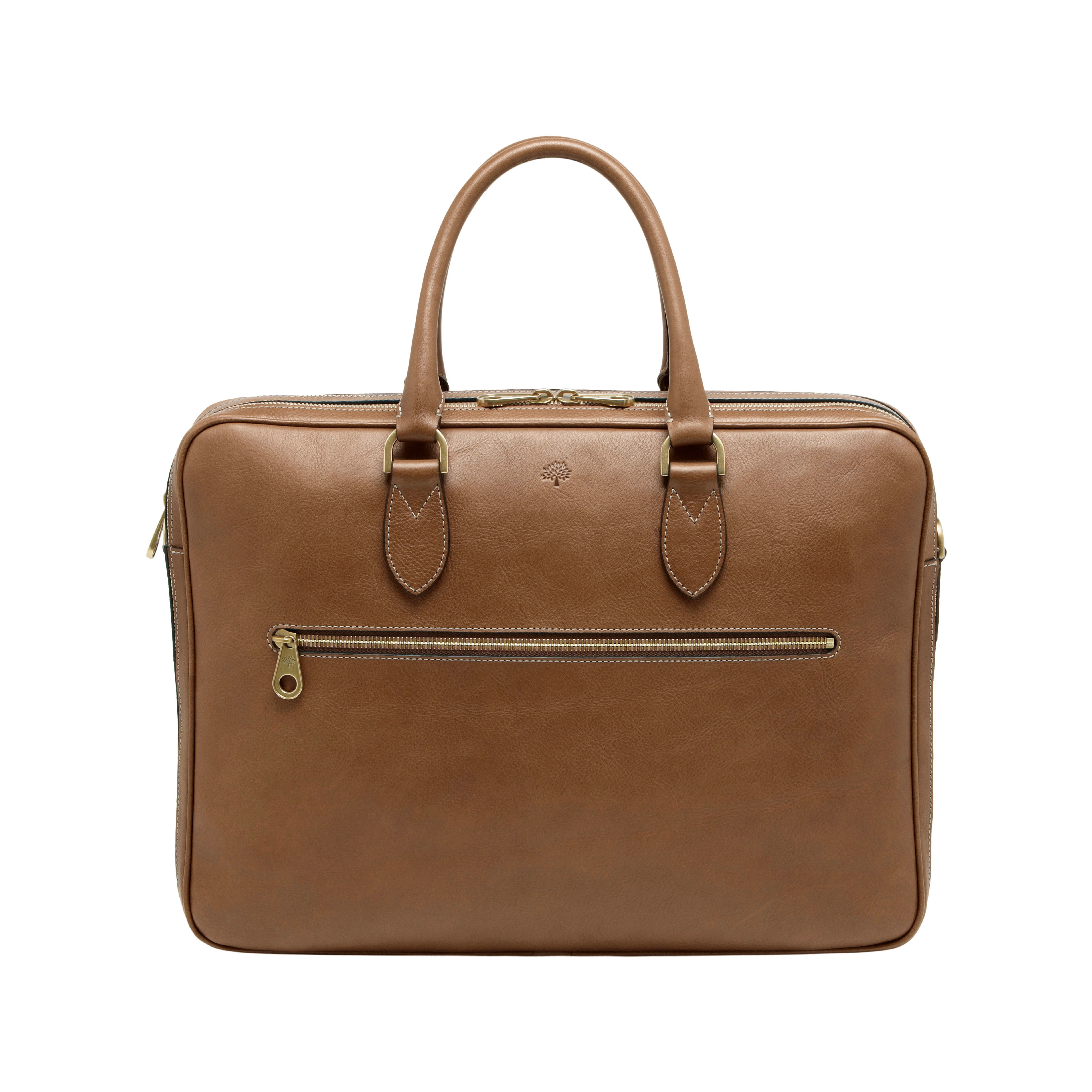 Mulberry Heathcliffe Leather Briefcase In Brown For Men | Lyst