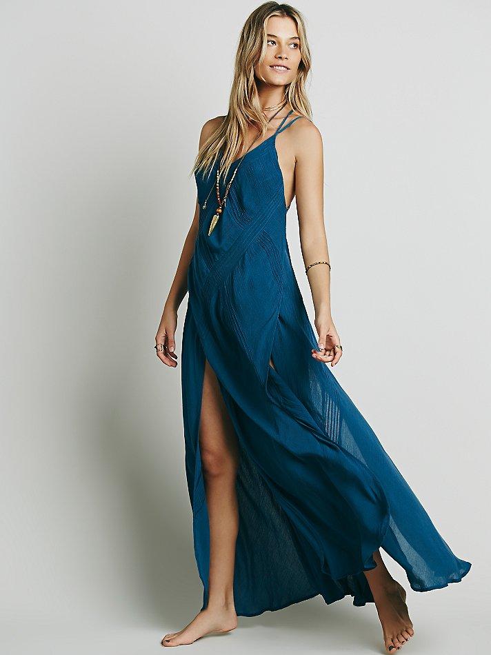 542767a1713c Free People Summer Rain Dress in Blue - Lyst
