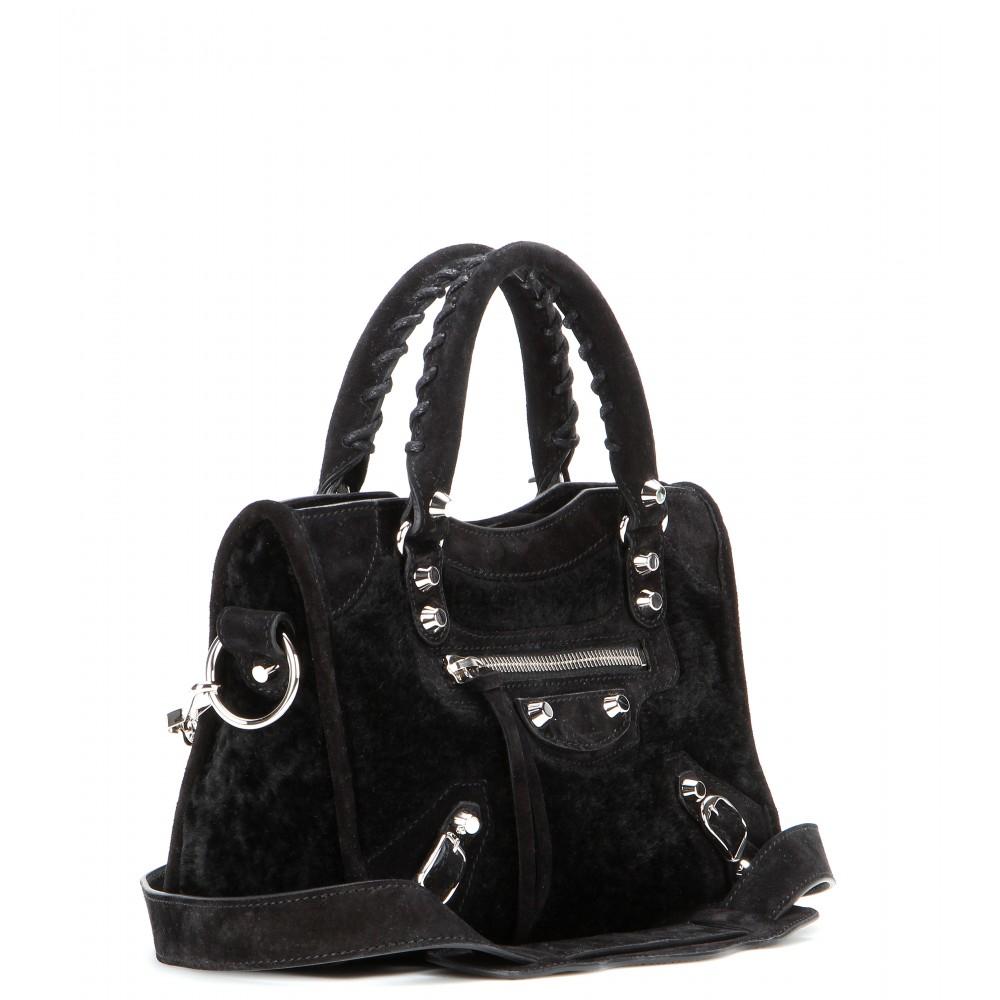 bcf18f9f9c Lyst - Balenciaga Classic Mini City Shoulder Bag in Black