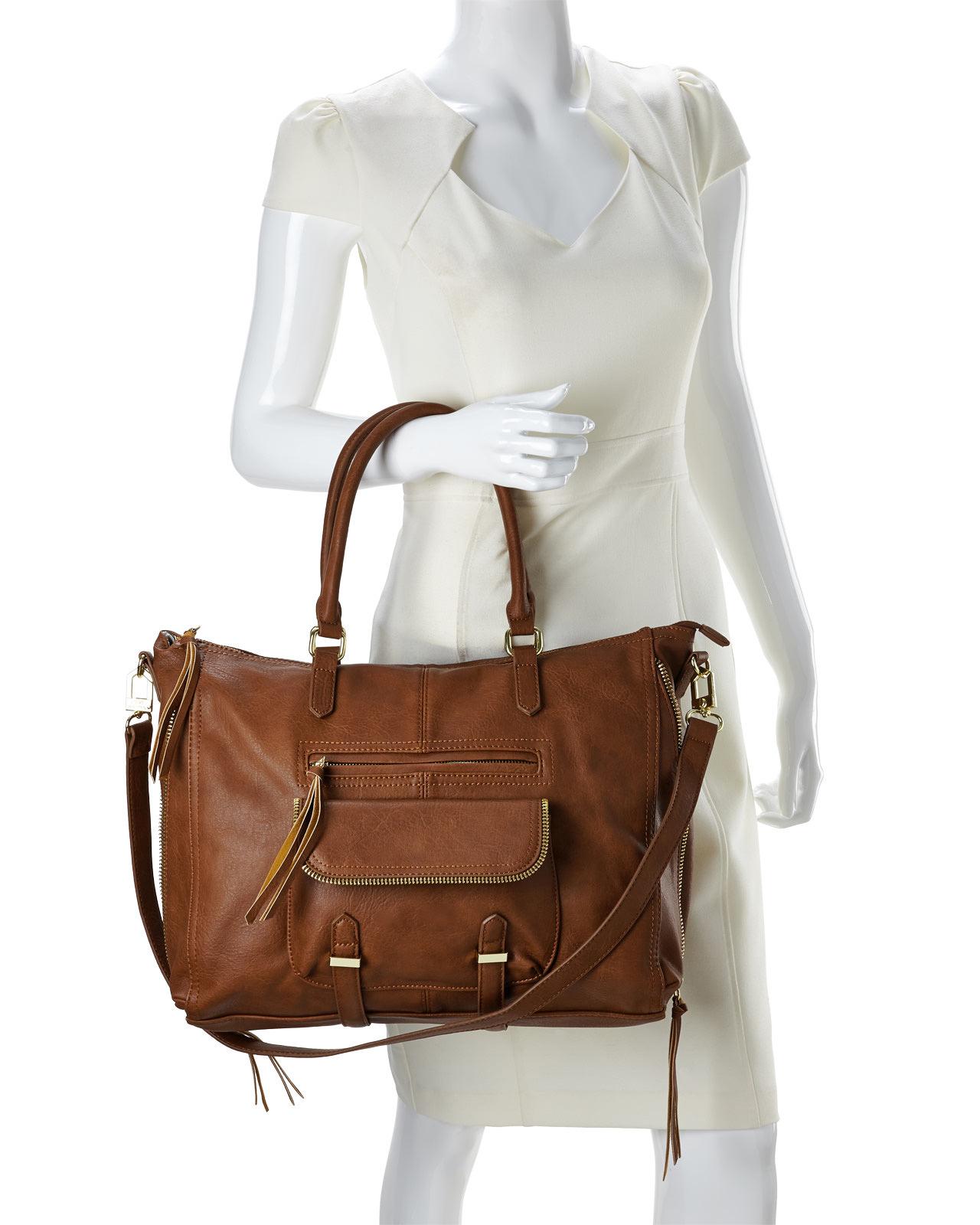 Lyst Steve Madden Cognac Broyale Tote Bag In Brown