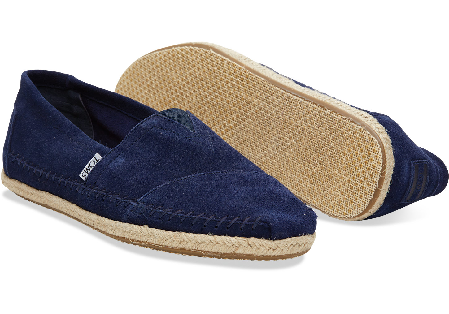 e0b2a839ff4 Lyst - TOMS Navy Suede Rope Sole Men s Classics in Blue for Men